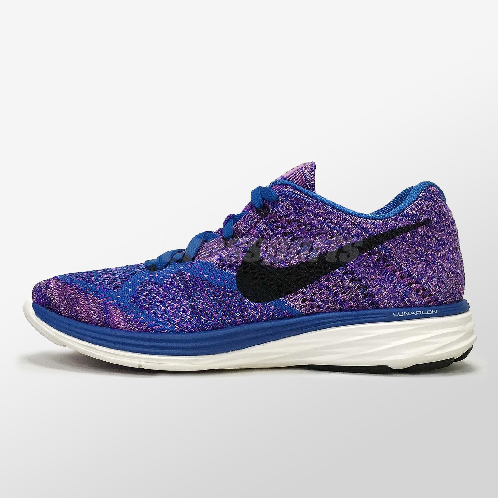 save off 9a397 96084 Details about Nike Wmns Flyknit Lunar3 Pre-owned Game Royal Women Running  Shoe 698182-405
