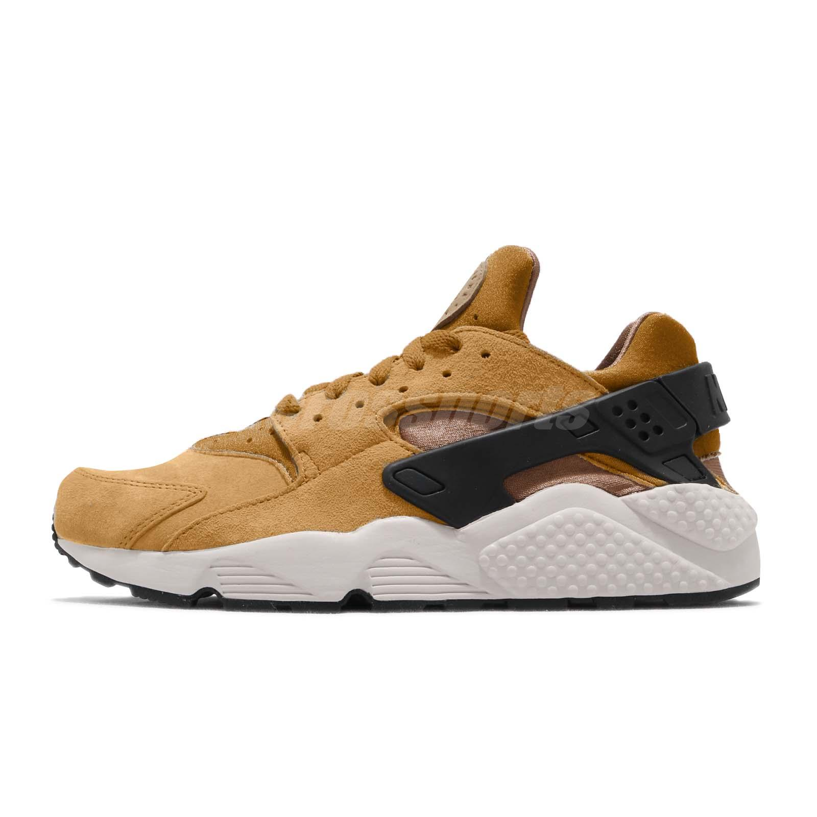 6368cfb91857 Nike Air Huarache Run PRM Wheat Pack Black Light Bone Men Shoes 704830-700