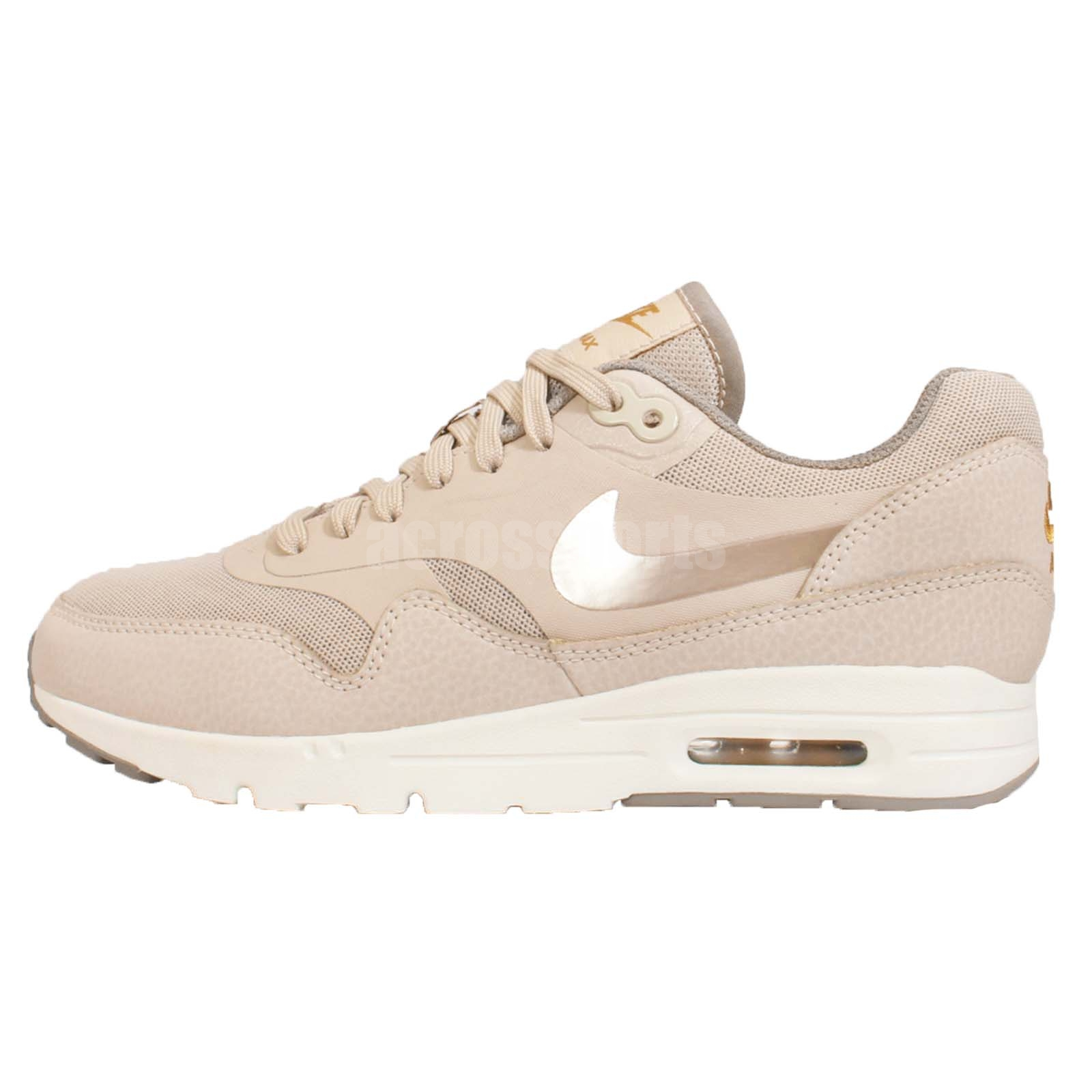 wmns nike air max 1 ultra essential string gold womens. Black Bedroom Furniture Sets. Home Design Ideas