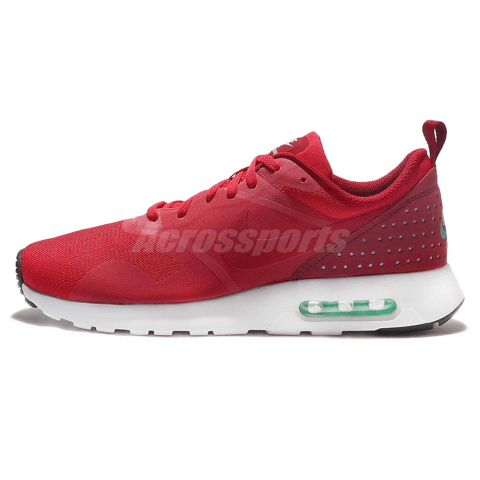 a80ac3904fcd68 Nike Air Max Tavas Action Red White Mens Running Shoes Sneakers 705149 603