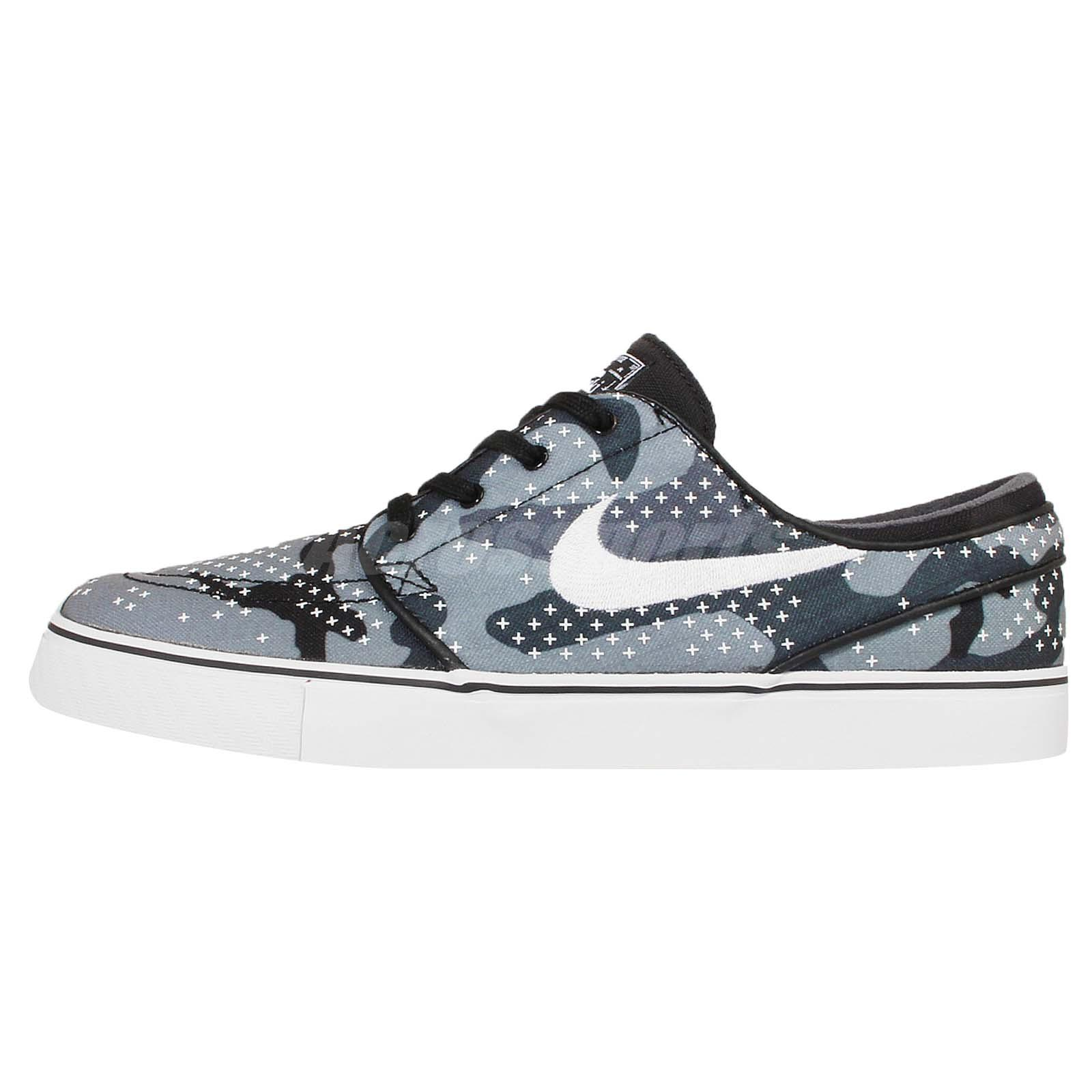 Nike Zoom Stefan Janoski CNVS PRM Grey Camo Mens Skateboarding Shoes  705190-010