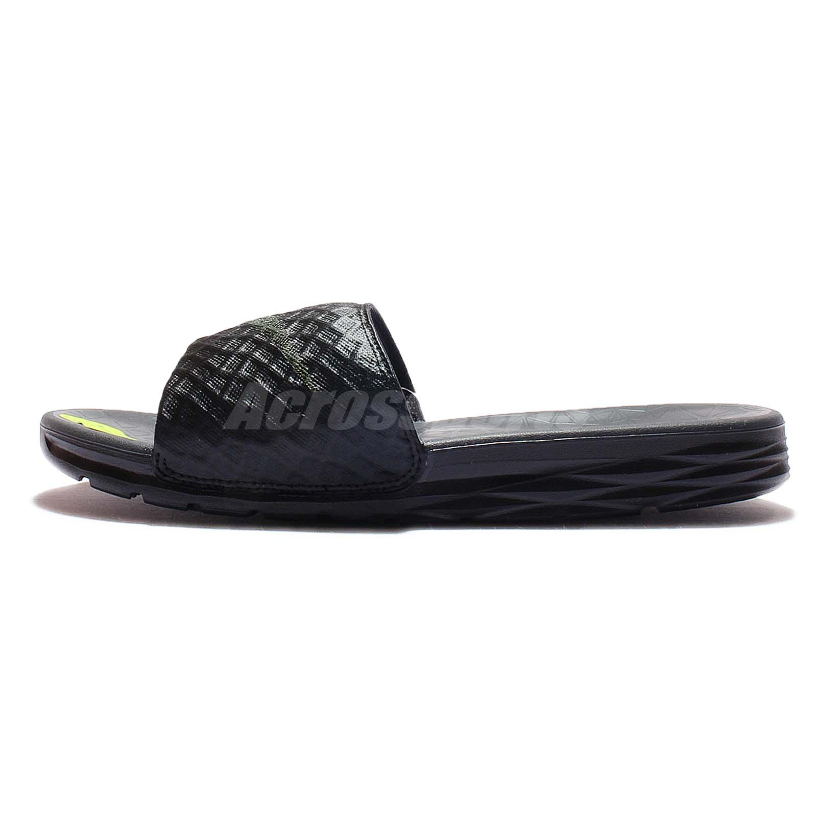 08a05a8d1750 Nike Benassi Solarsoft 2 Black Grey Mens Sandal Slides Slippers 705474-091