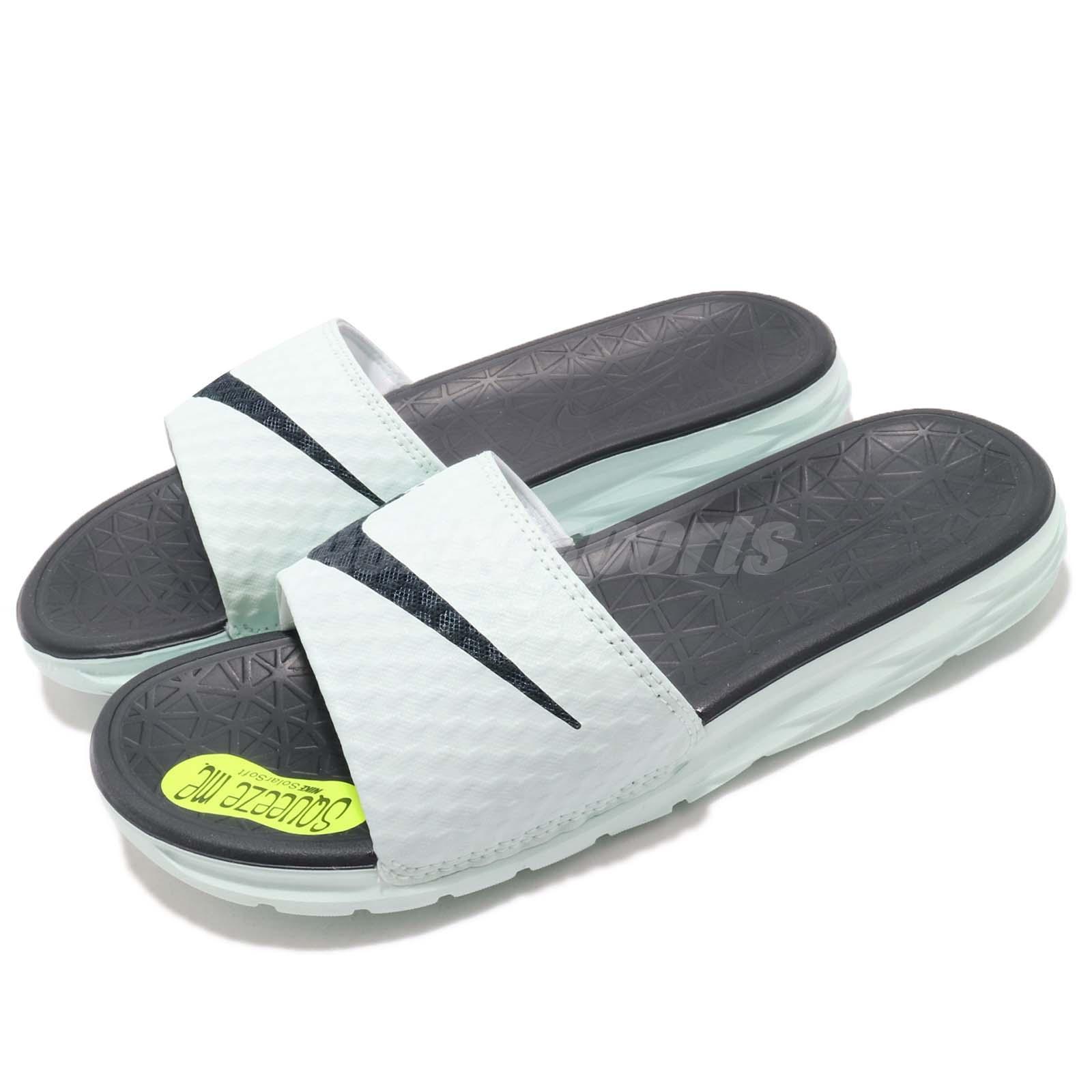 4f512f438 Details about Nike Wmns Benassi Solarsoft Igloo Obsidian Women Sports Sandal  Slides 705475-303