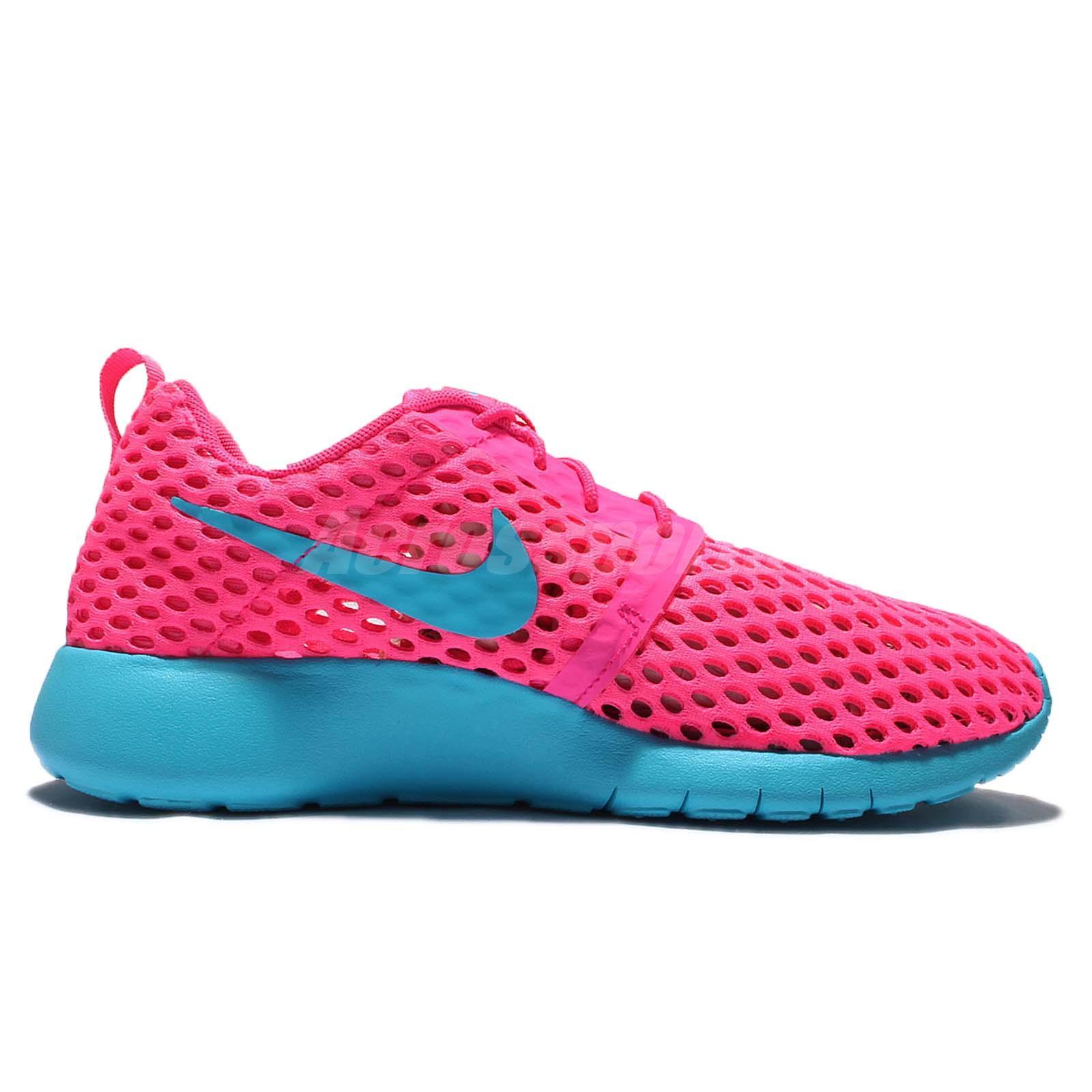 nike roshe pink and blue