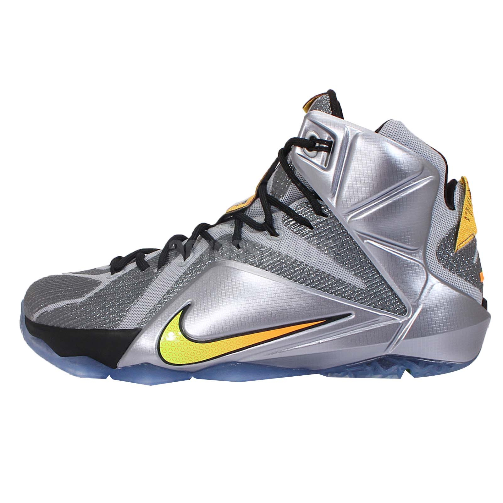 Nike Lebron XII EP 12 Flight Lebron James Silver Orange ...