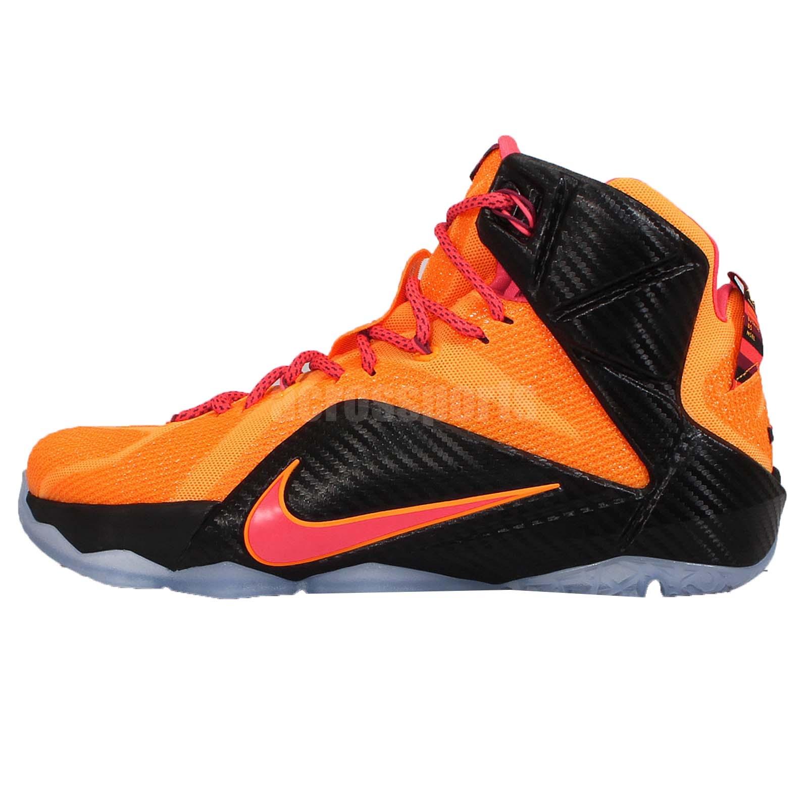 Nike Lebron XII EP 12 Witness Lebron James Orange Mens ...