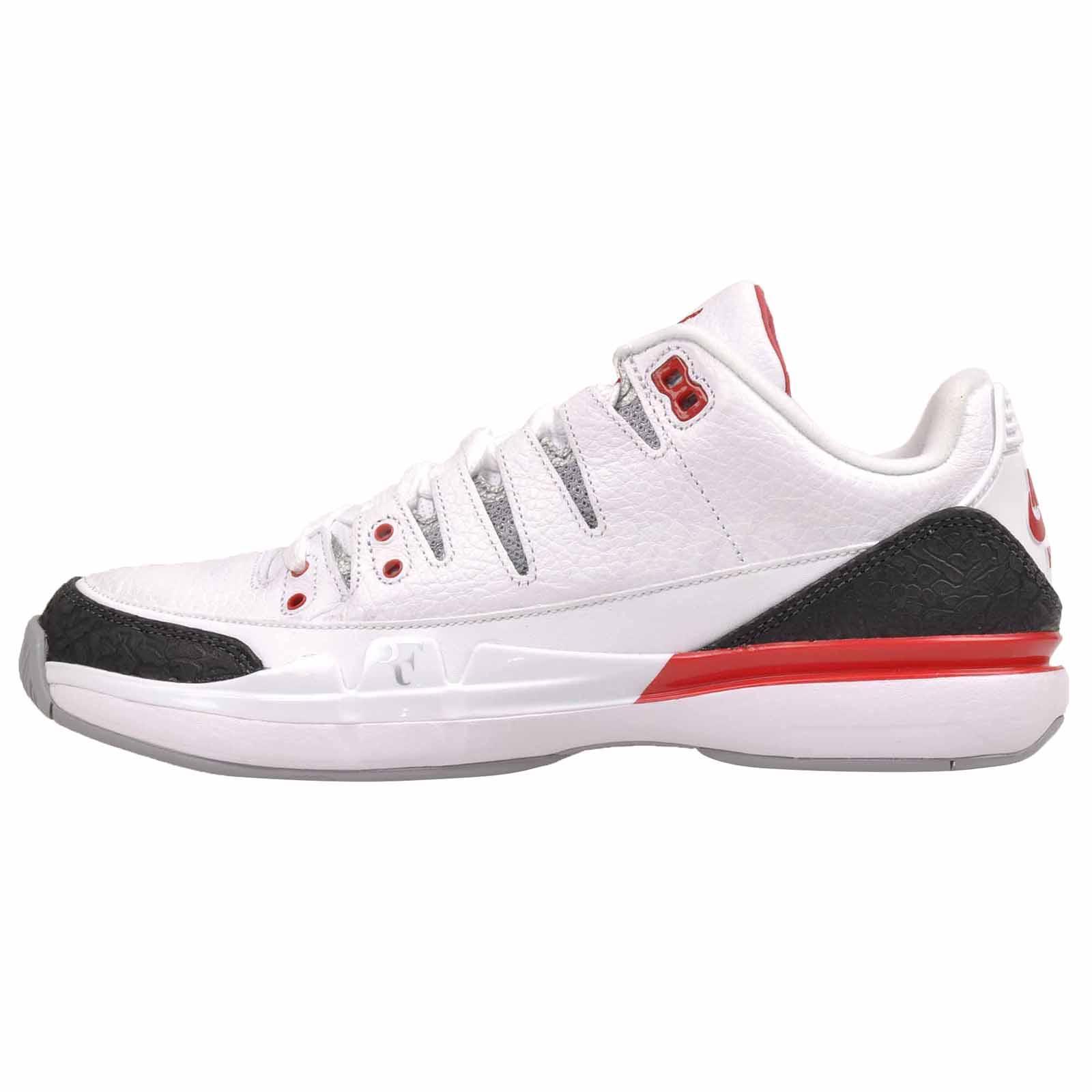 20a406a00890 Details about Nike Zoom Vapor RF X AJ3 Federer x Jordan Mens Tennis White  (No Lid) 709998-106