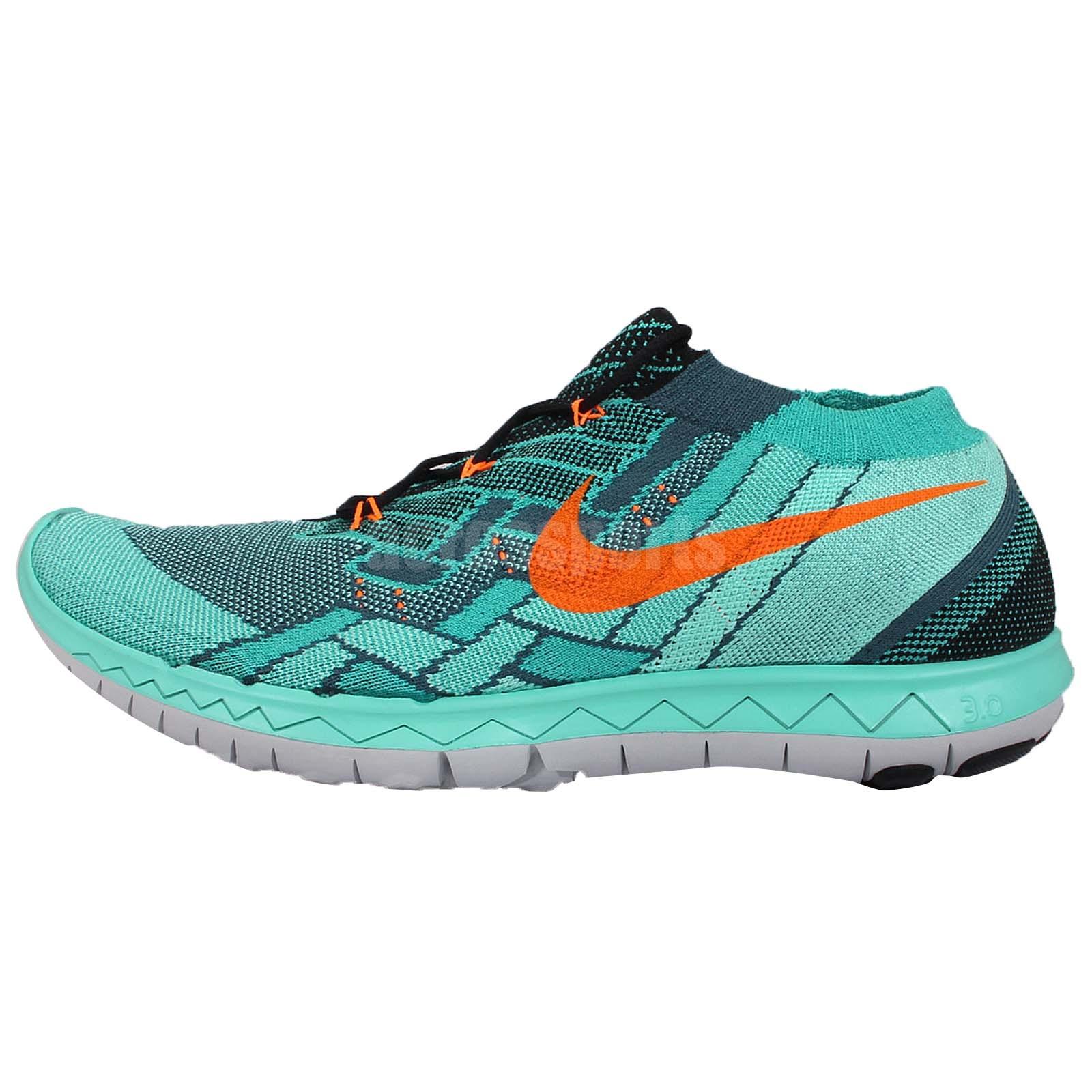 Nike Free 3.0 Flyknit Green Orange Mens Running Shoes Nike ...