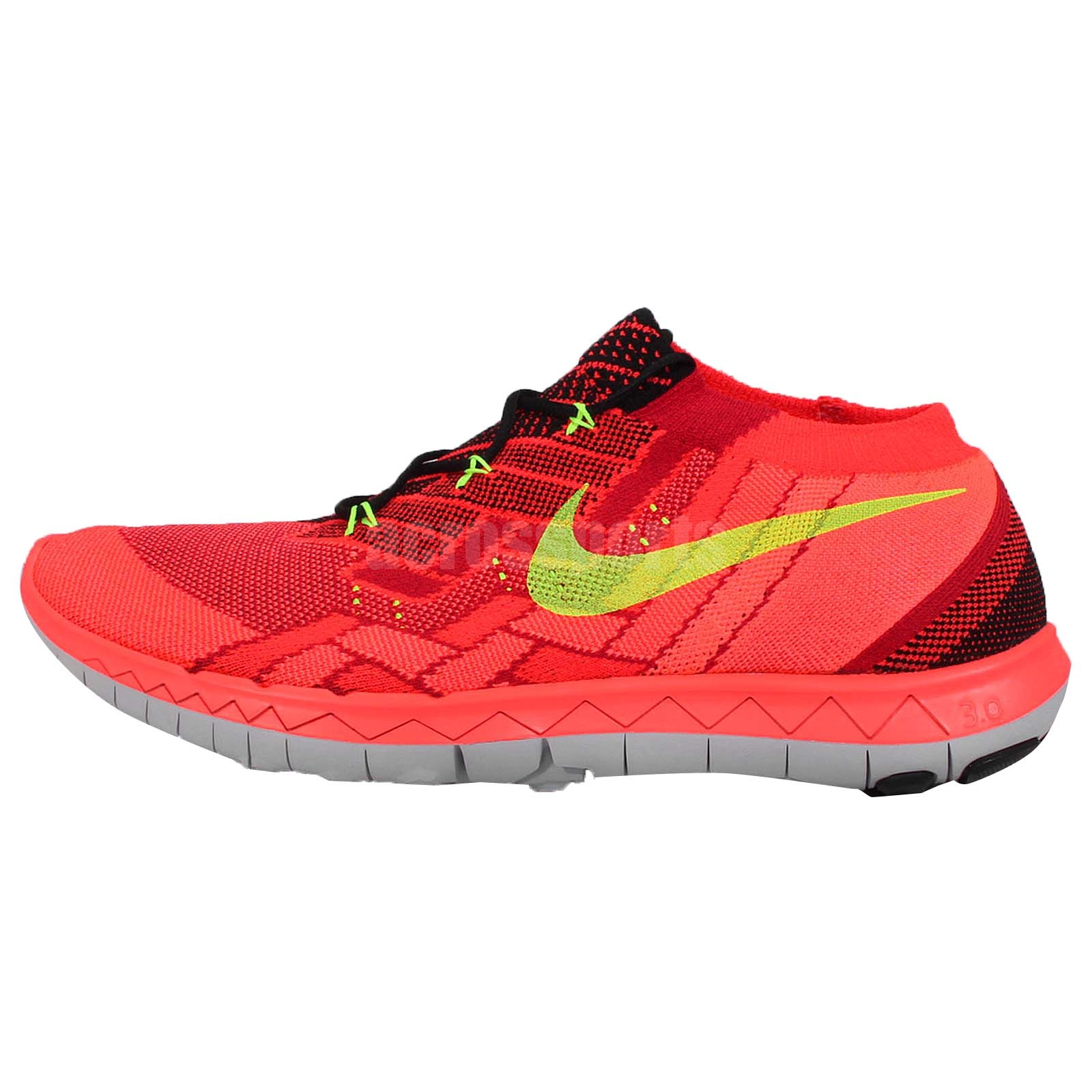 Nike Free 3.0 Flyknit Red Crimson Mens Running Shoes Nike ...