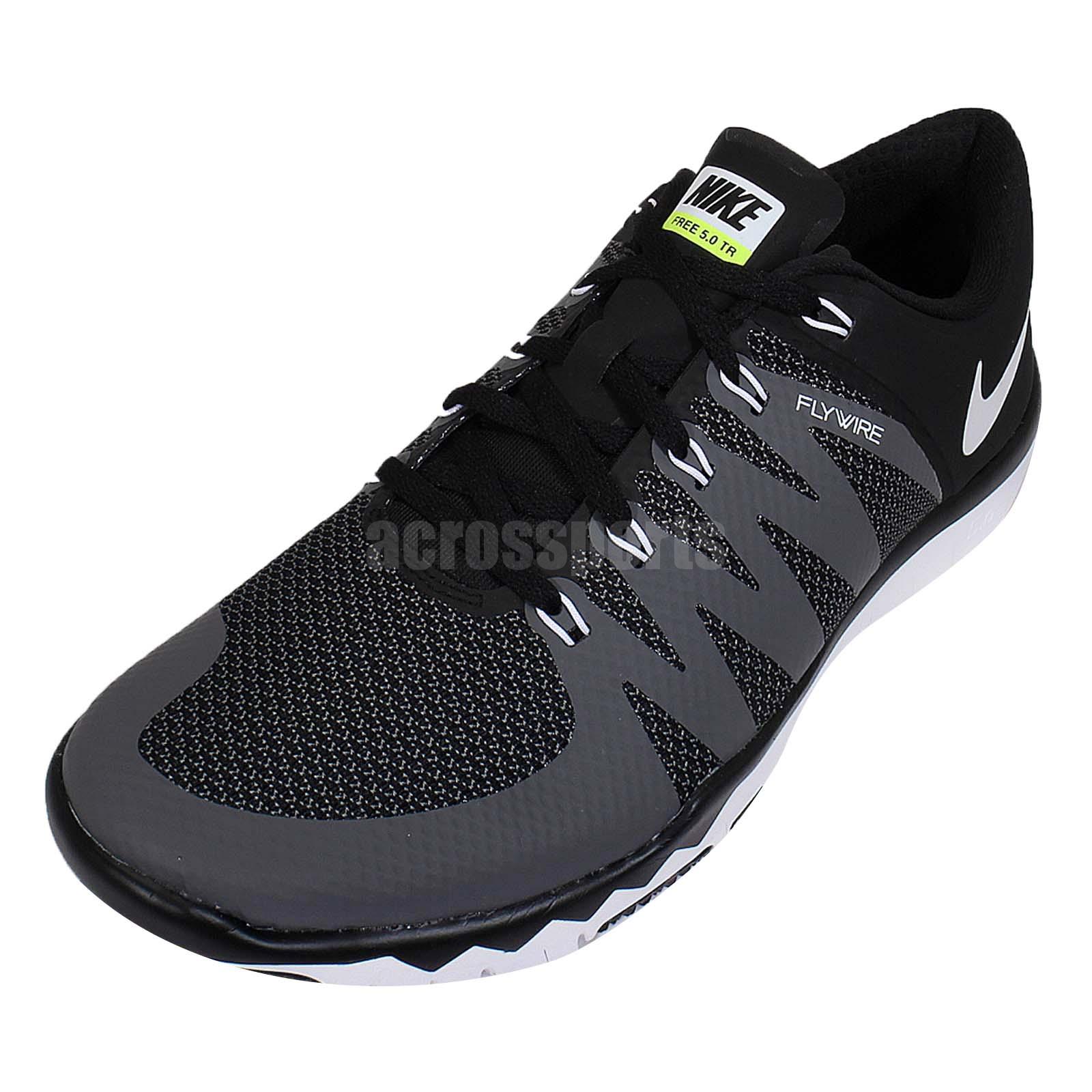 b43cdb3af39 Nike Free Trainer 5.0 V6 Black White Grey Mens Cross Training Shoes ...