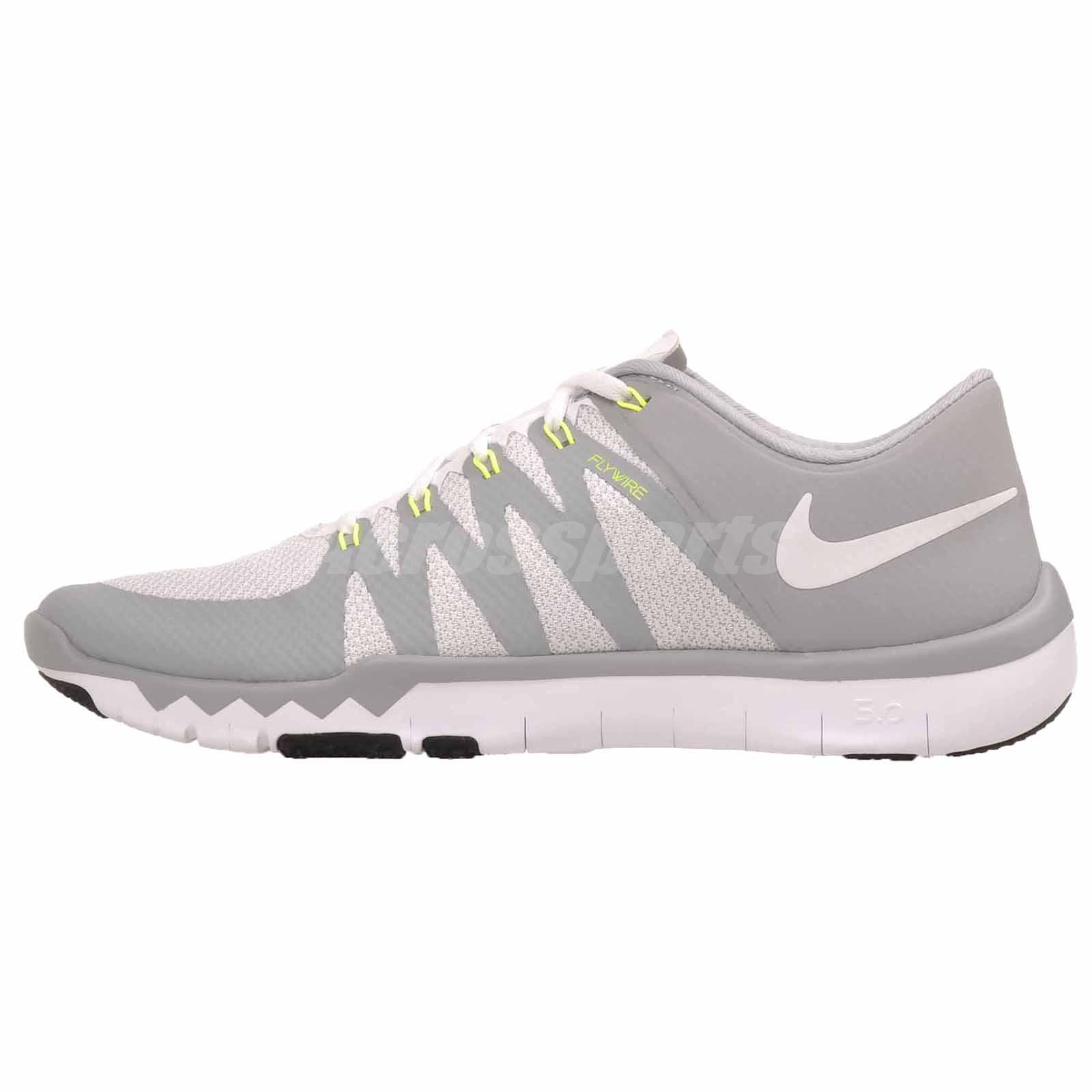 Nike Free Trainer 5.0 V6 Cross Training Mens Shoes White Grey 719922-100