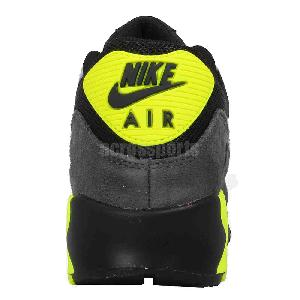 sneakers for cheap 8c5a0 9d621 nike air max 90 mesh gs black grey volt boys girls youth womens shoes  724824 002