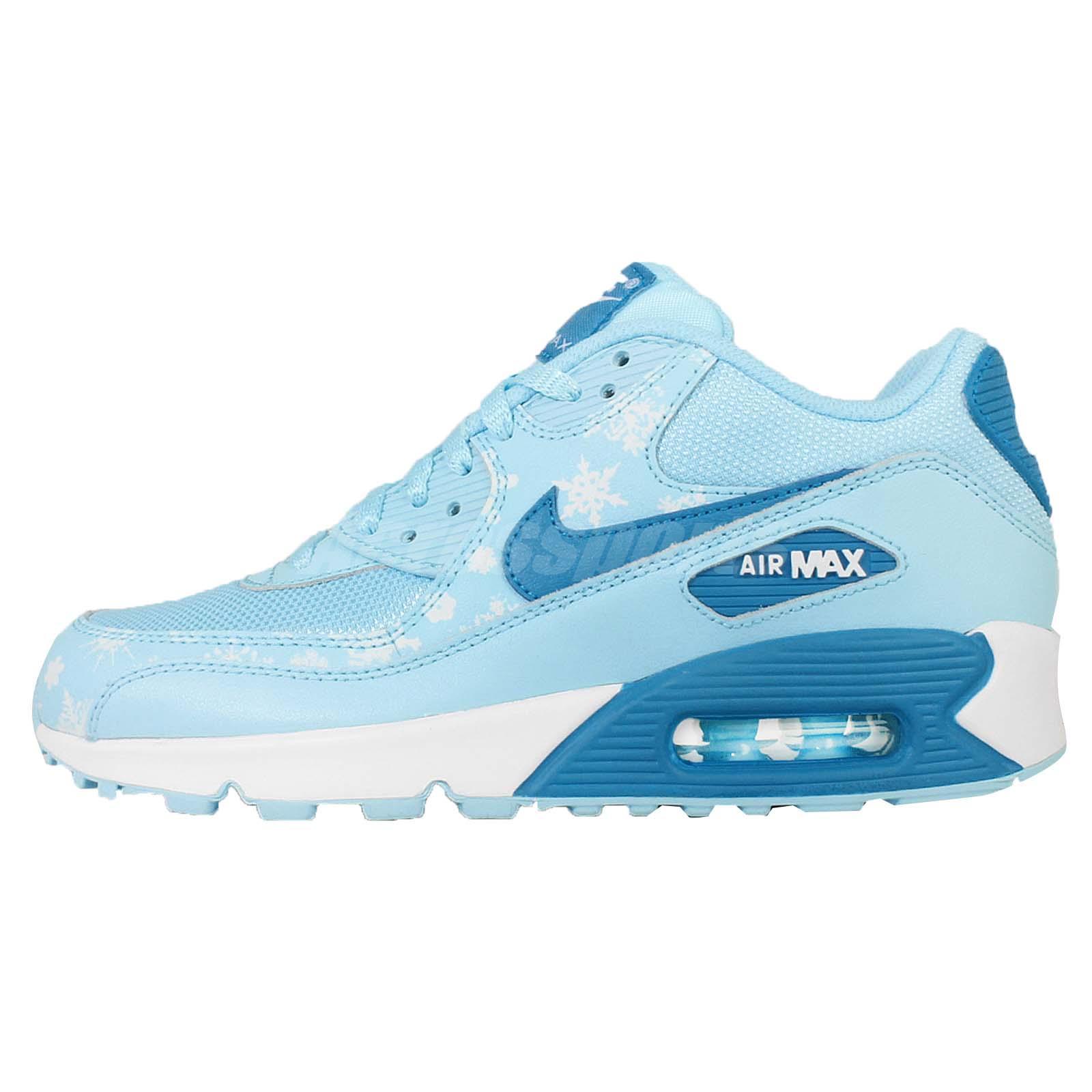 nike air max 90 mesh gs azul