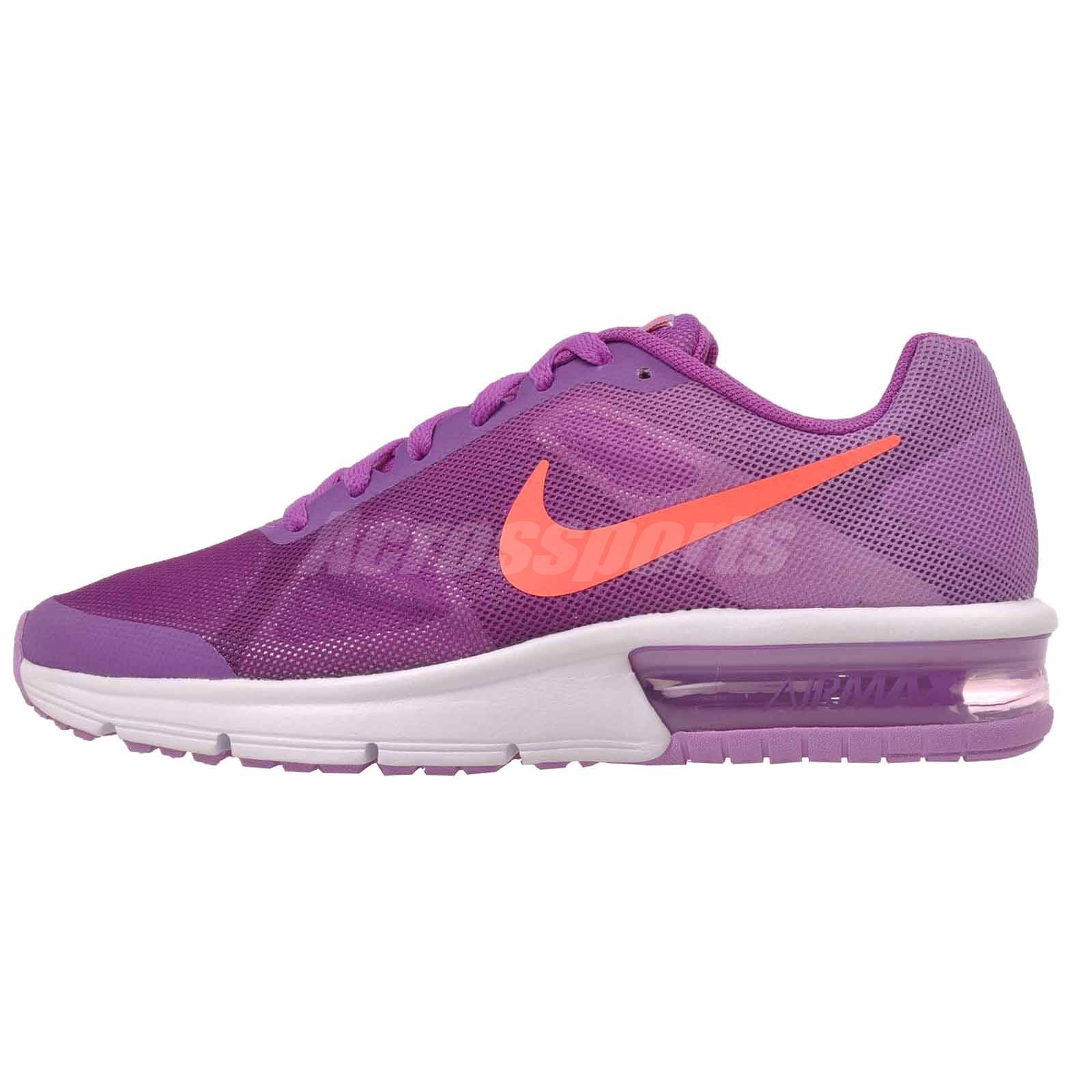 reputable site 583f9 44430 Nike Air Max Sequent GS Running Kids Youth Shoes Vivid Purple 724984-501