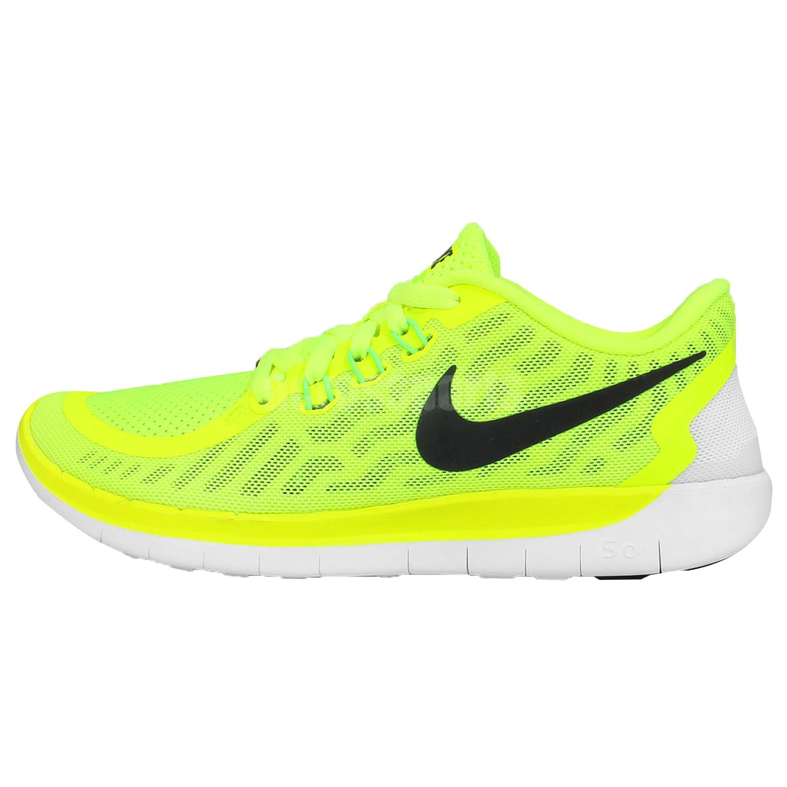 Nike Free 5.0 GS Volt Black Green Youth Boys Girls Running