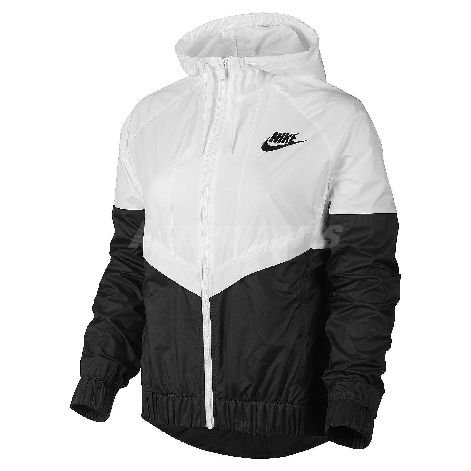 Asian Size Nike AS Nike Windrunner Black White Womens ...