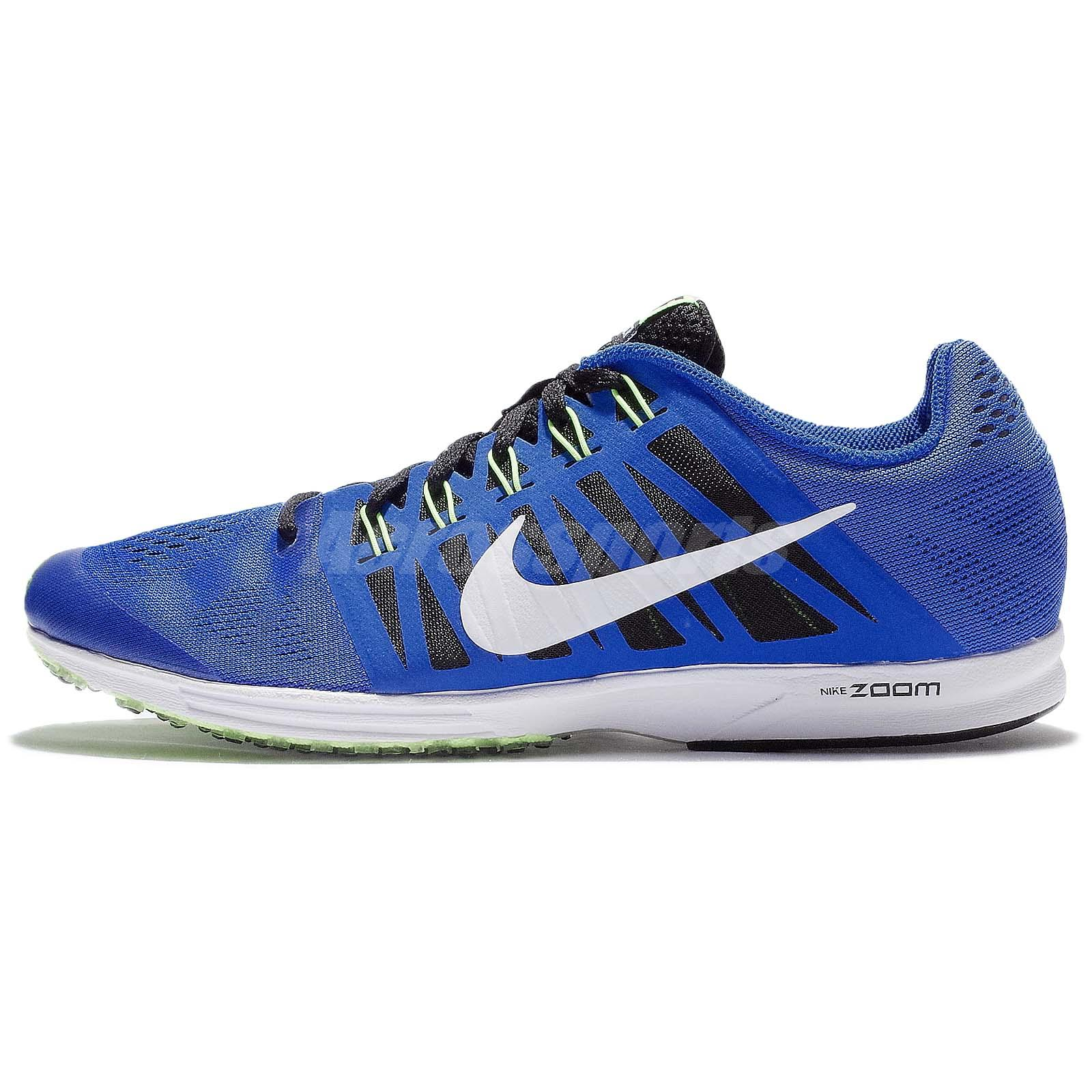bb55a33fcd741 Nike Air Zoom Speed Racer 6 Blue White Green Mens Racing Shoes 749360-410