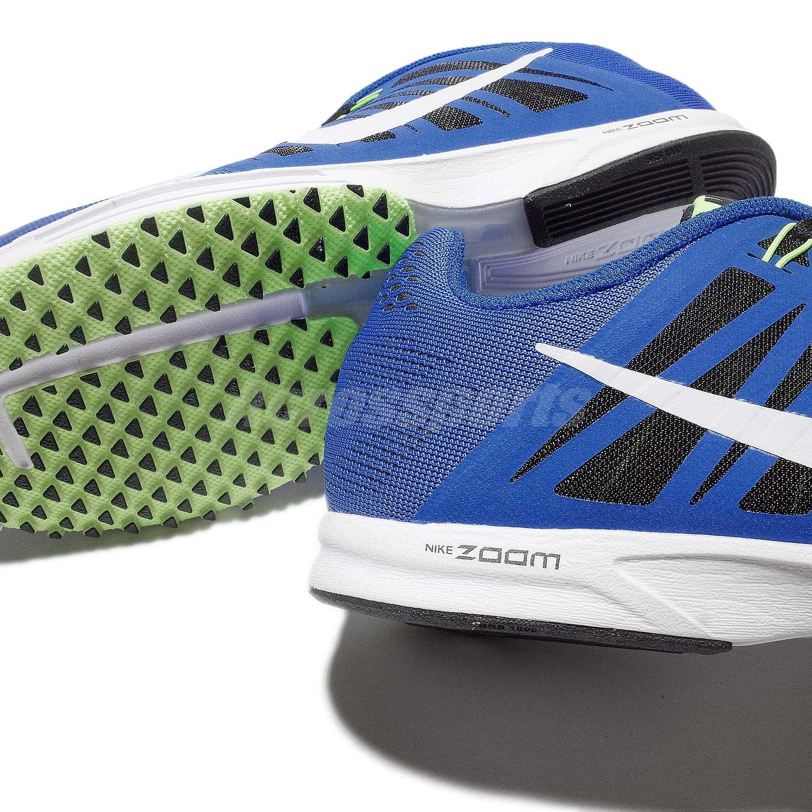 68b3dedbe17ac Nike Air Zoom Speed Racer 6 синий белый зеленый мужской гоночный ...