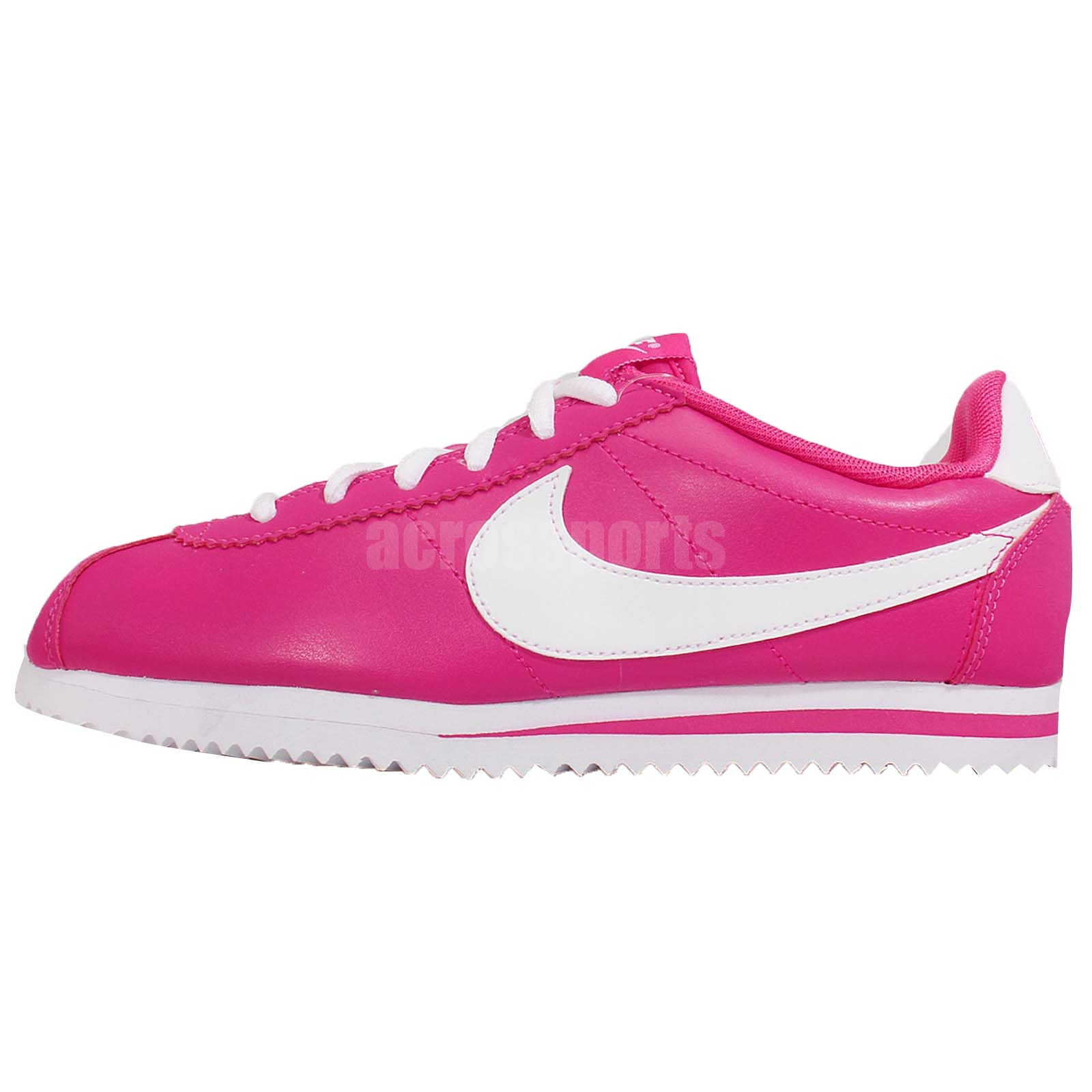 21efd1787af2b4 low price womens white and pink nike cortez e94f9 9cb4a