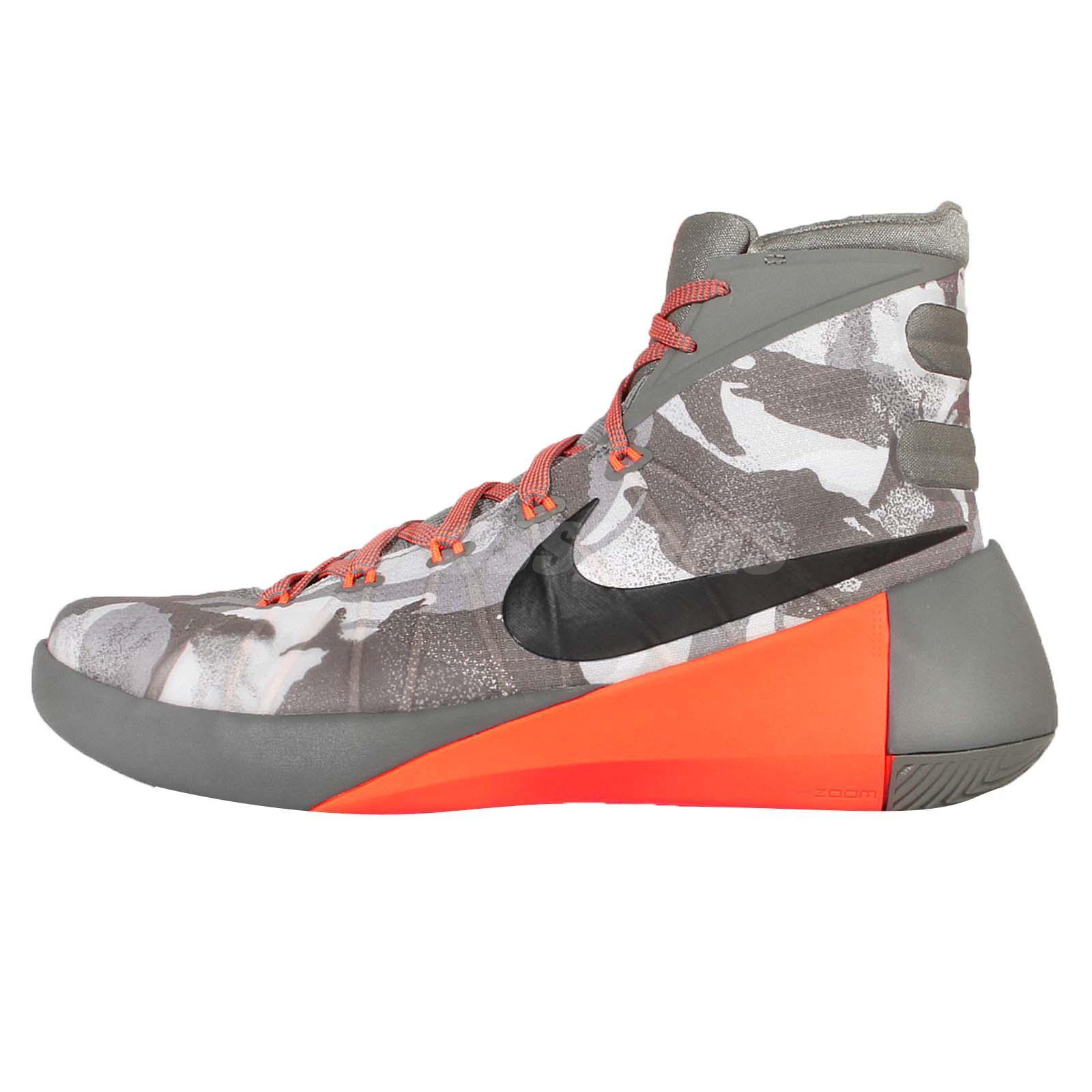 46180421c954 ... Nike Hyperdunk 2015 PRM EP Grey Orange Camo Mens Basketball Shoes  749570-001 ...