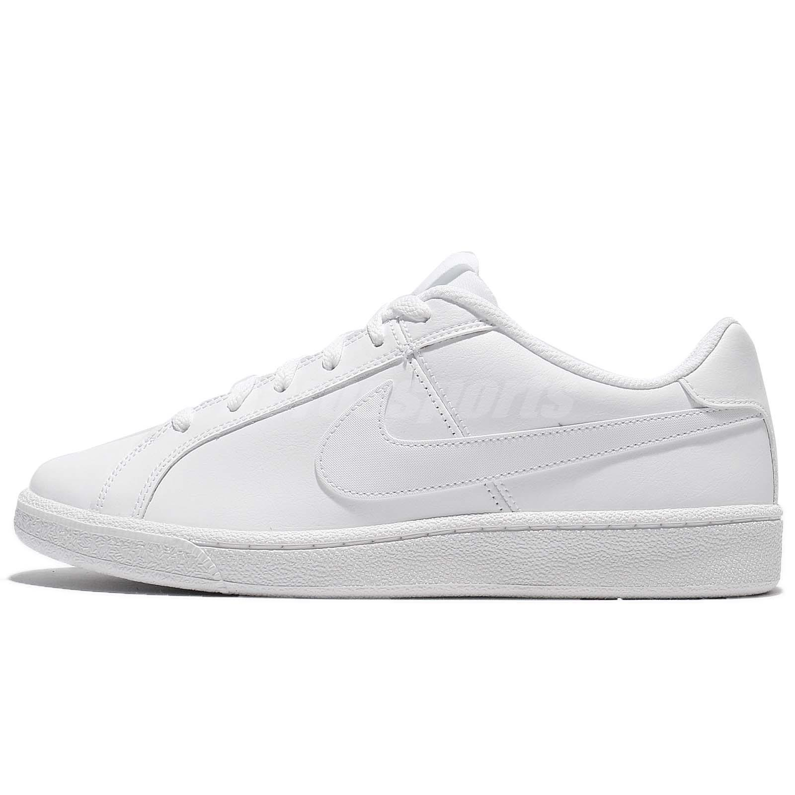 Nike Court Royale Triple White Leather Men Casual Shoes Sneakers