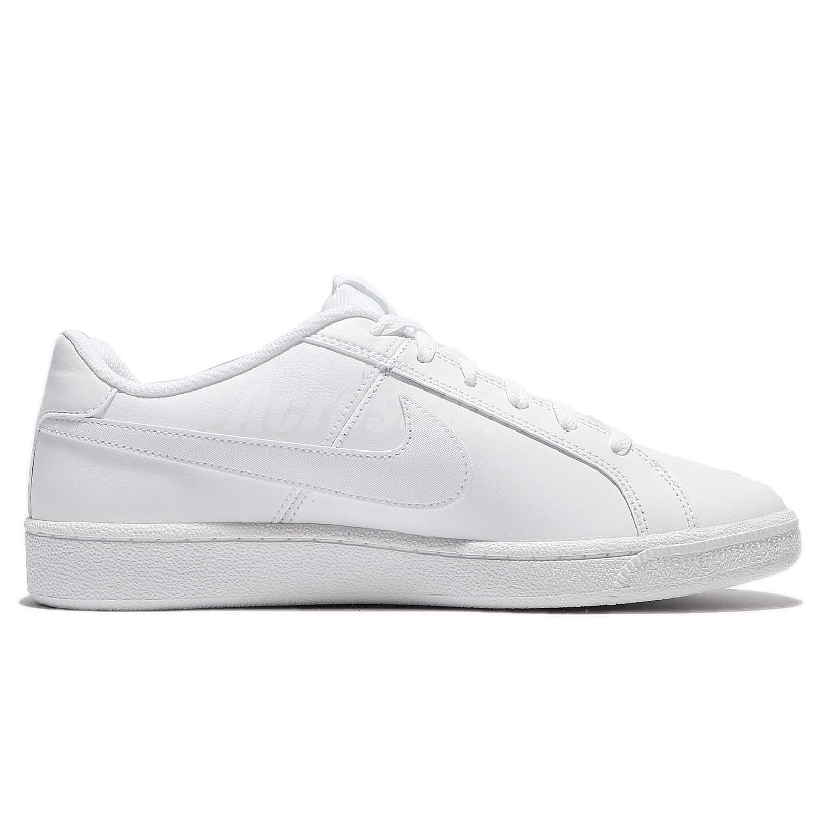 8a54fddd6859 Nike Court Royale Triple White Leather Men Casual Shoes Sneakers ...