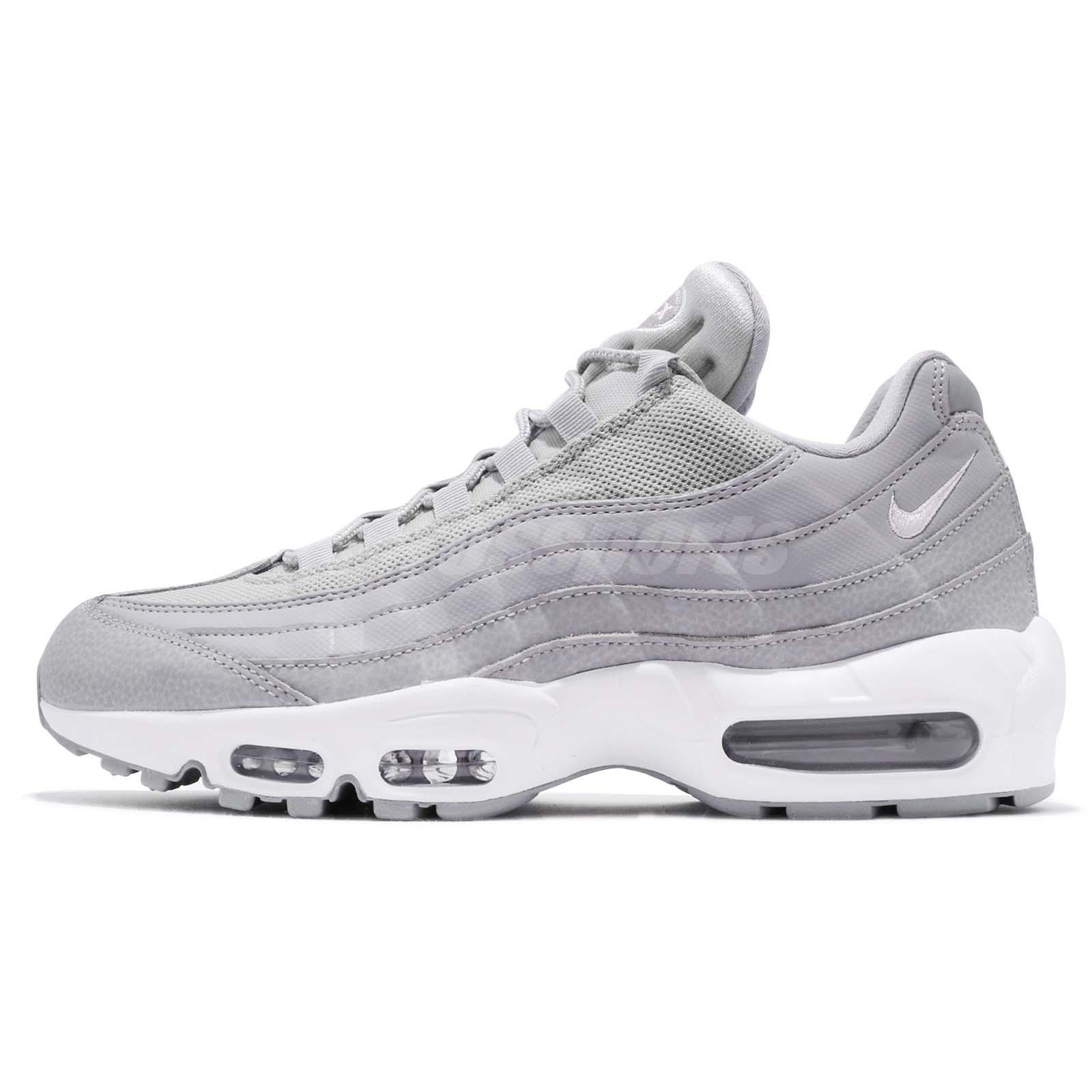 factory authentic 8a68c 7f0d2 Nike Air Max 95 Essential Grey White Men Running Shoes Sneakers 749766-037