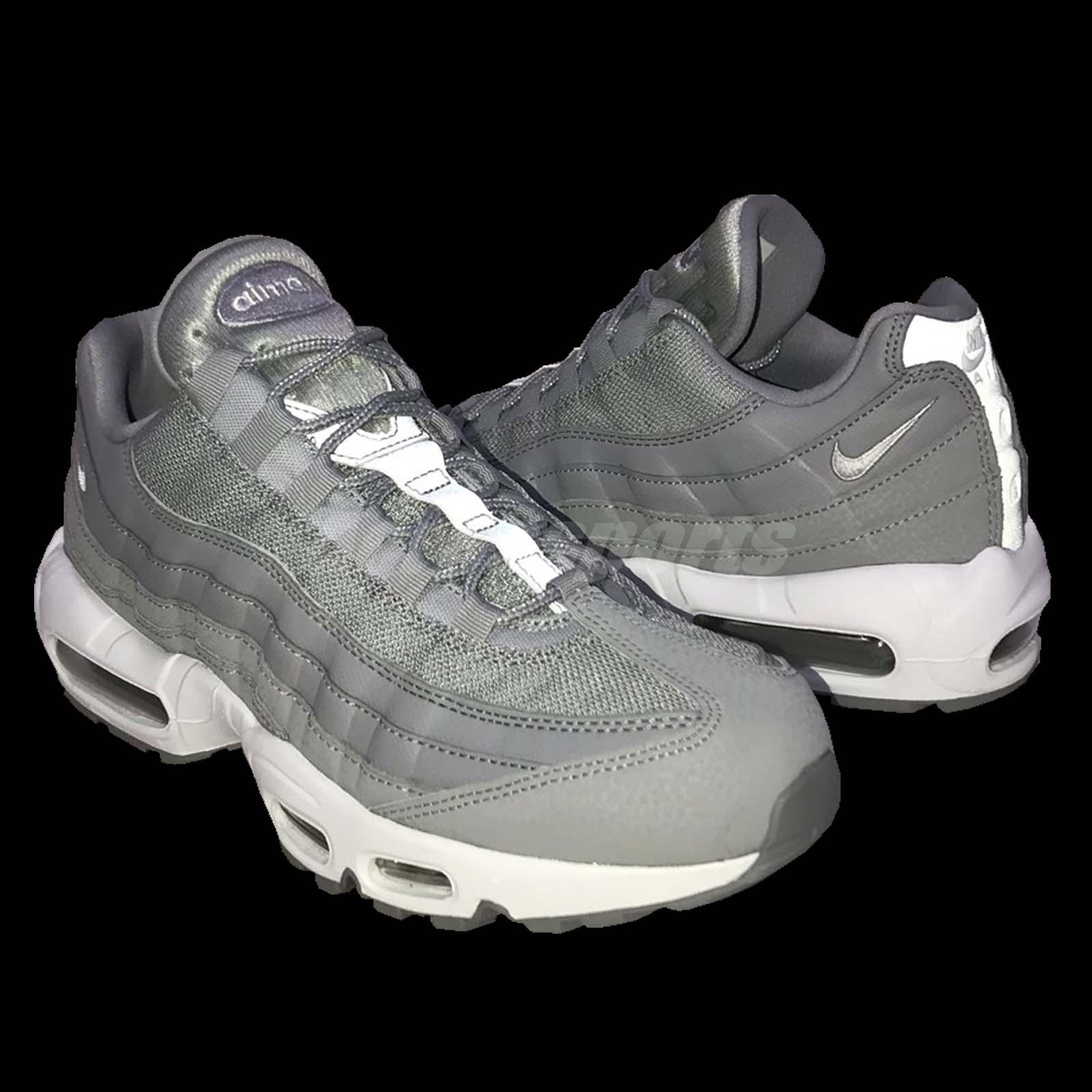 timeless design 109f8 8fe54 Nike Air Max 95 Essential Grey White Men Running Shoes Sneakers ...
