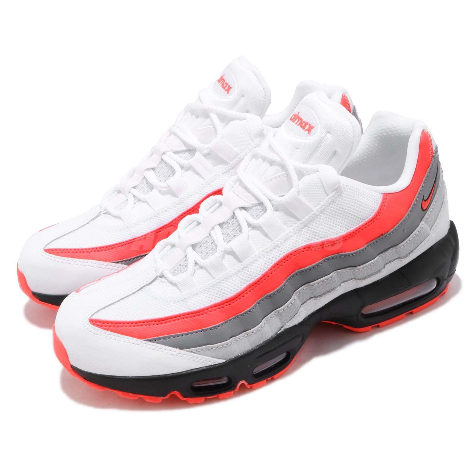 82d383a81cc80 Details about Nike Air Max 95 Essential Comet White Bright Crimson Grey Men Shoes  749766-112