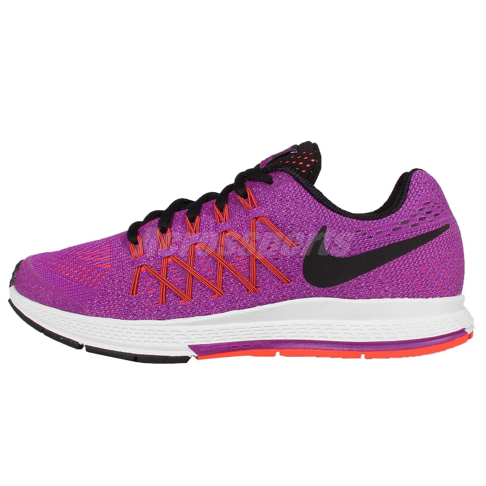 huge discount 41194 d0821 ... Nike Zoom Pegasus 32 GS Purple Black Kids Youth Womens Running Shoes  759972-500 ...