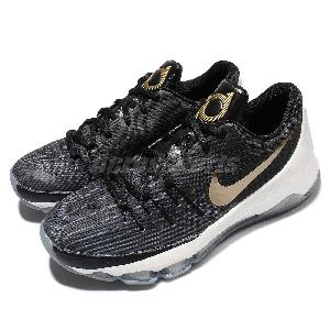 ... Nike KD 8 GS Black Gold Kevin Durant Youth Kids Boys Basketball Shoes  768867-071 . ... b18759568