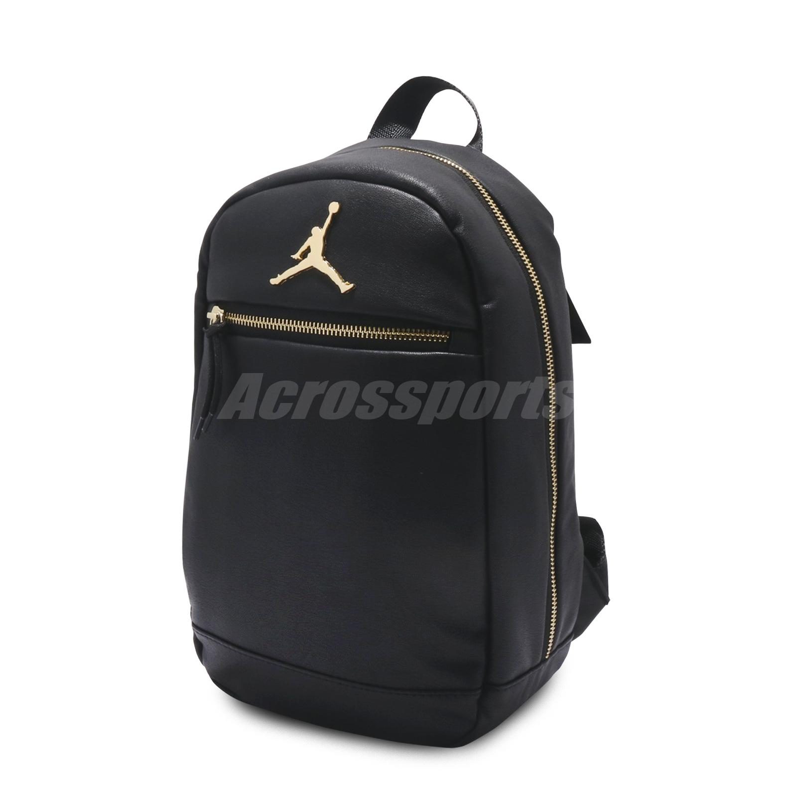 2f2510f8efb7c3 Nike Jordan Skyline Mini Backpack Black Gold School Bookbag Kid Women  7A1978-429
