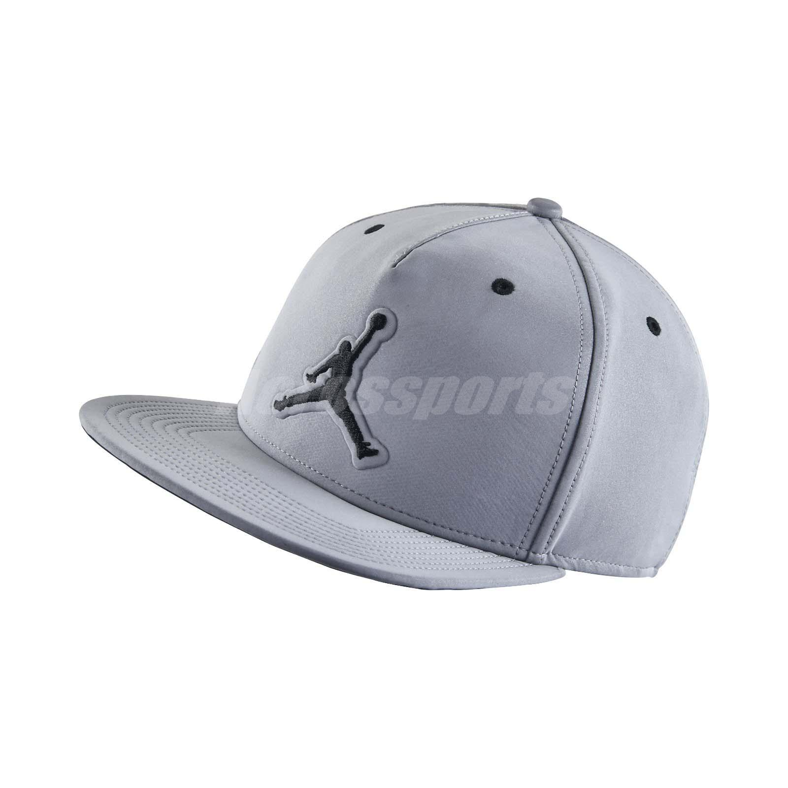 e5055bbf61e347 Details about Nike Air Jordan 5 Retro V Grey 3M Reflective Cap Snapback  Adjustable 801773-096