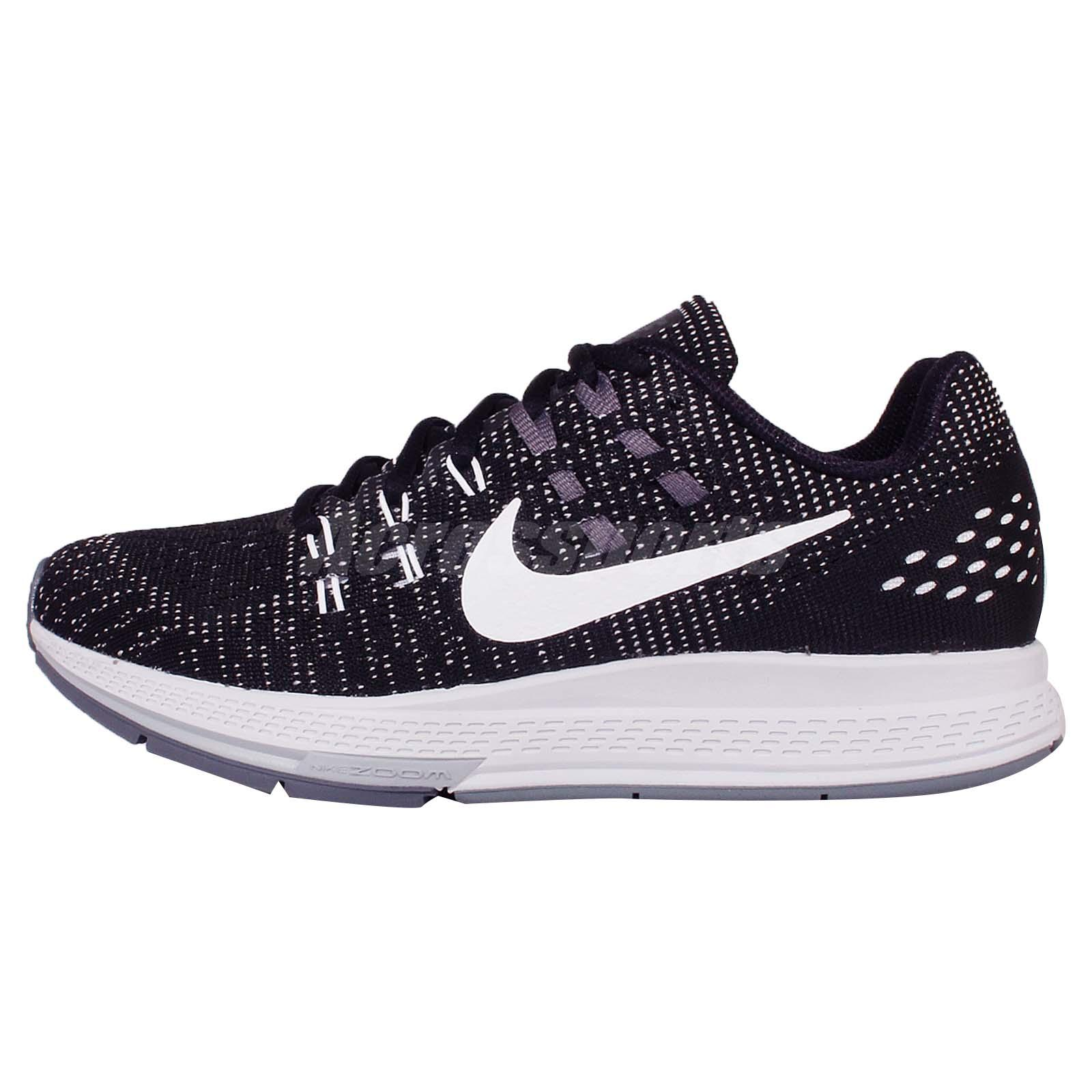 brand new 873e0 ae42c Nike Wmns Air Zoom Structure 19 Black Grey Women Running Shoe Sneaker  806584-001
