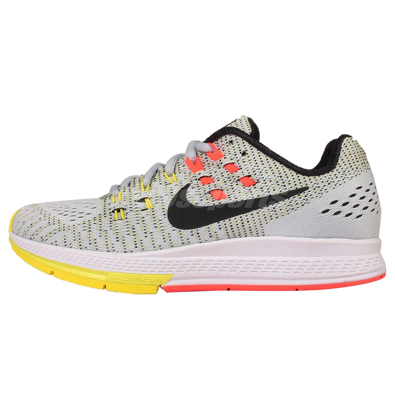 wmns nike air zoom structure 19 grey black womens running. Black Bedroom Furniture Sets. Home Design Ideas