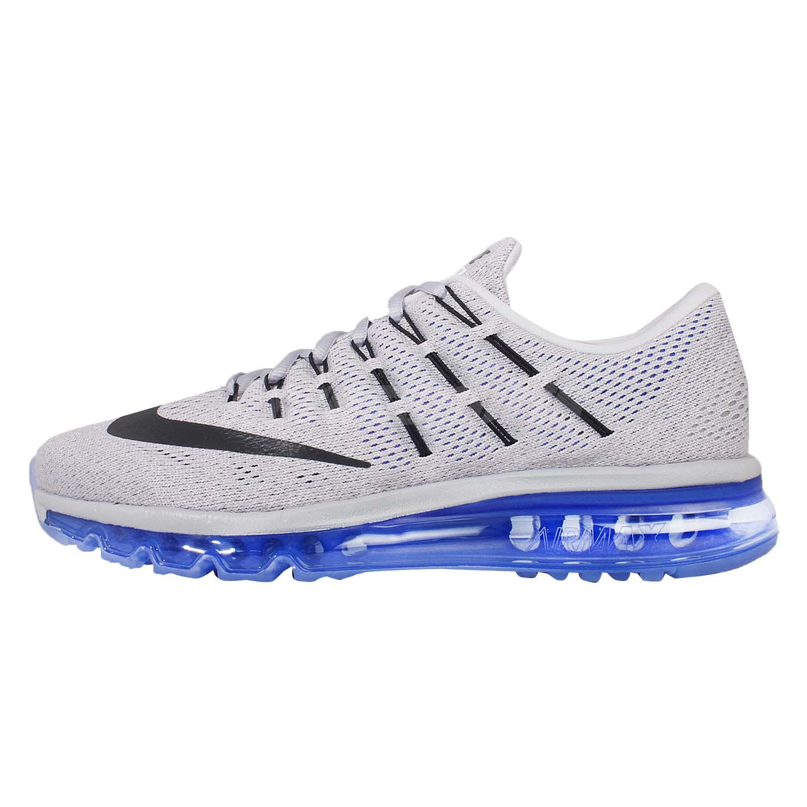 eb1046a992245 Nike Air Max 2016 Grey Blue Mens Running Shoes Sneakers Trainers 806771-004