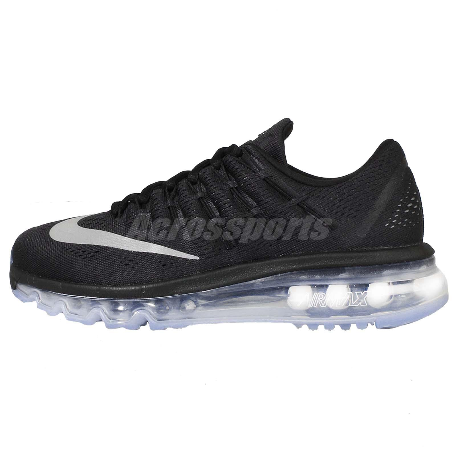 Wmns Nike Air Max 2016 Black Grey Womens Running Shoes