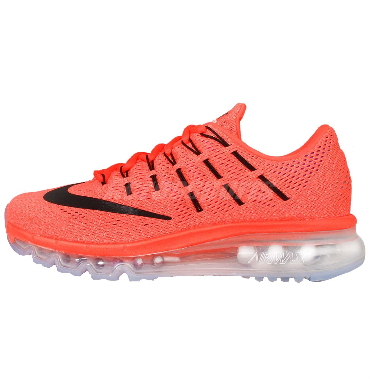 Wmns Nike Air Max 2016 Orange Black Womens Running Shoes