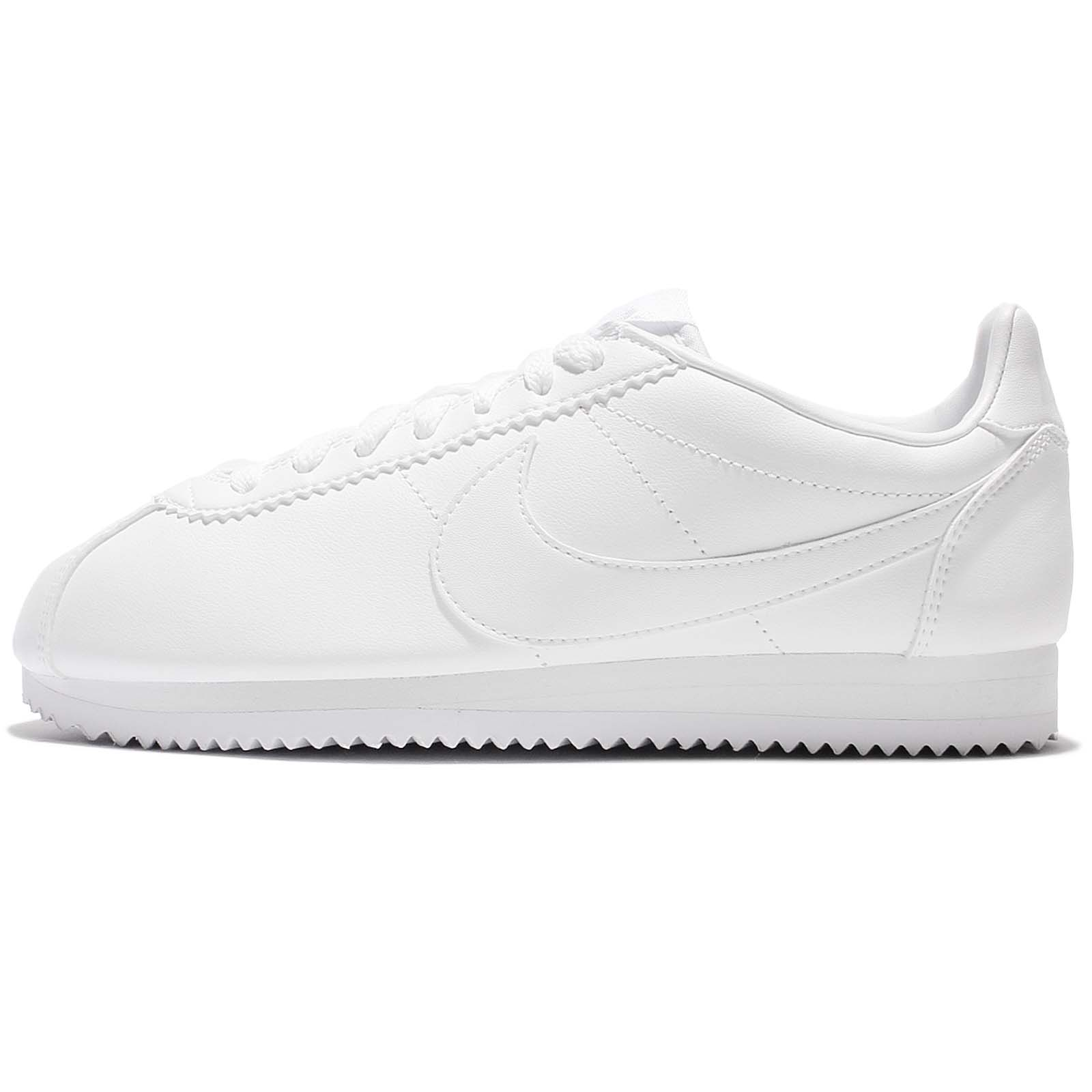 07a69663d6b2 clearance nike wmns classic cortez leather triple white women shoes  sneakers 807471 102 945f9 a96c2