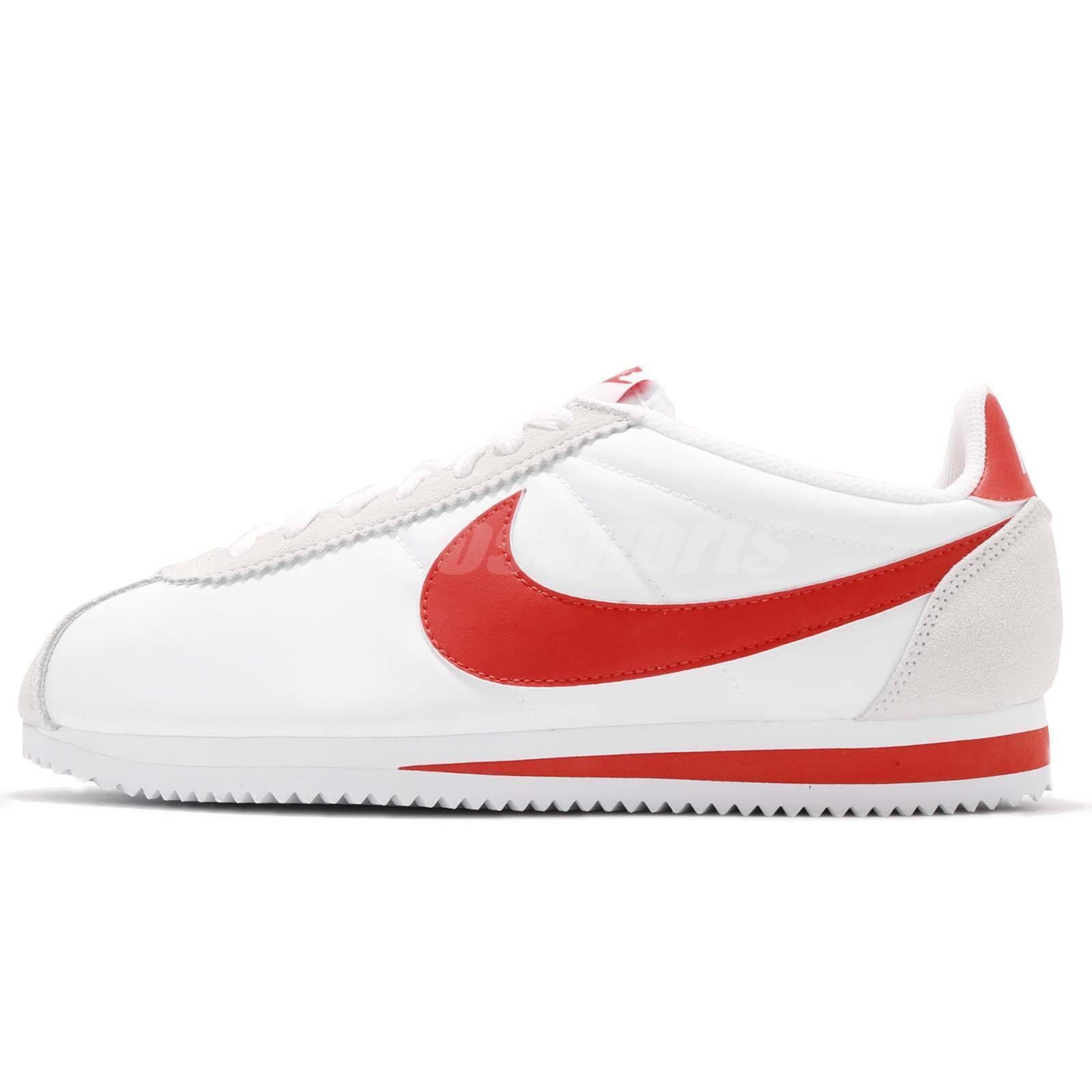 867b86206 Nike Classic Cortez Nylon White Habanero Red Men Running Shoe Sneaker  807472-101