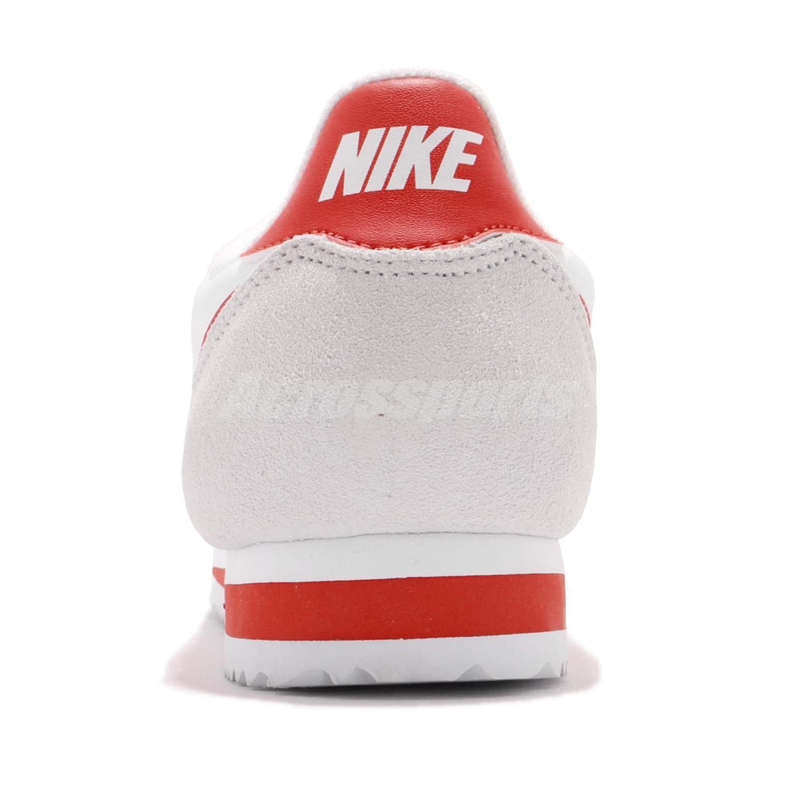 eb9f394d76 Nike Classic Cortez Nylon White Habanero Red Men Running Shoe ...