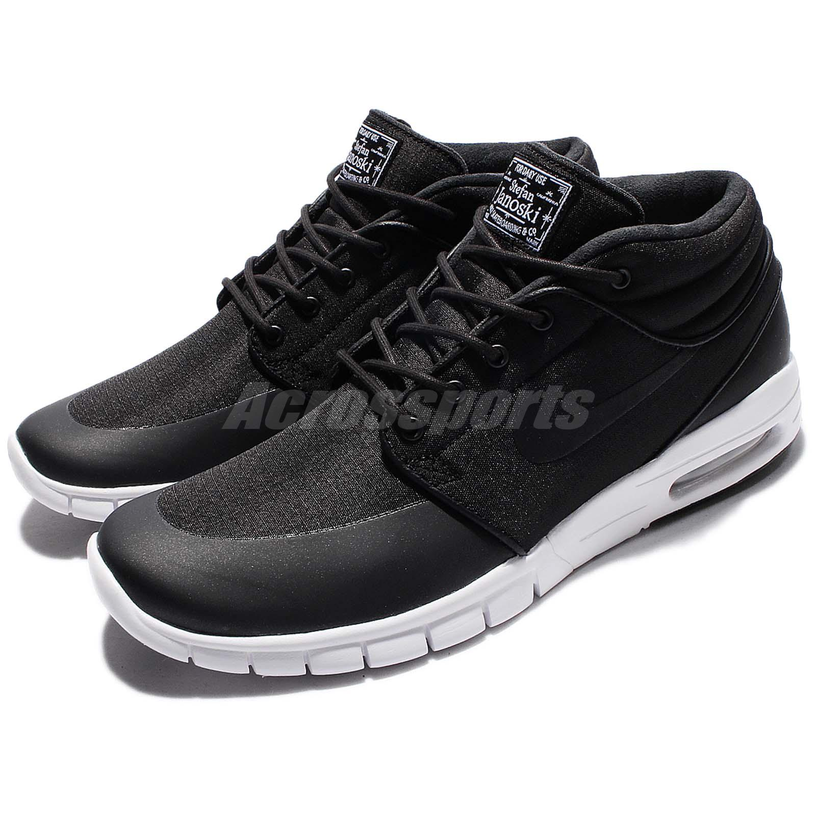 Details about Nike Stefan Janoski Max Mid SB Black White Men Skateboarding  Shoes 807507-001 4da863217
