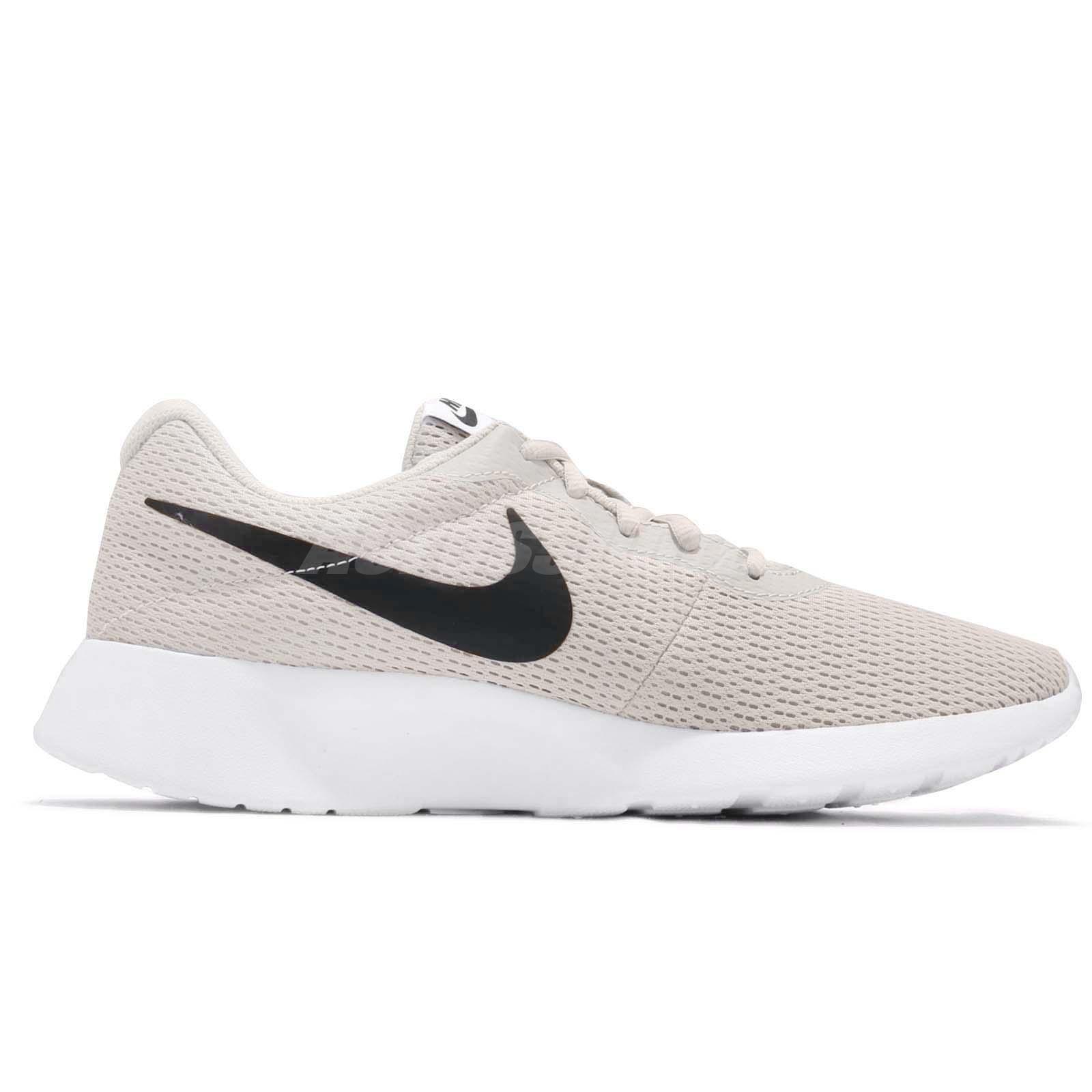 ccd9a0833ba90 Nike Tanjun Light Bone Black White Men Running Shoes Sneakers ...