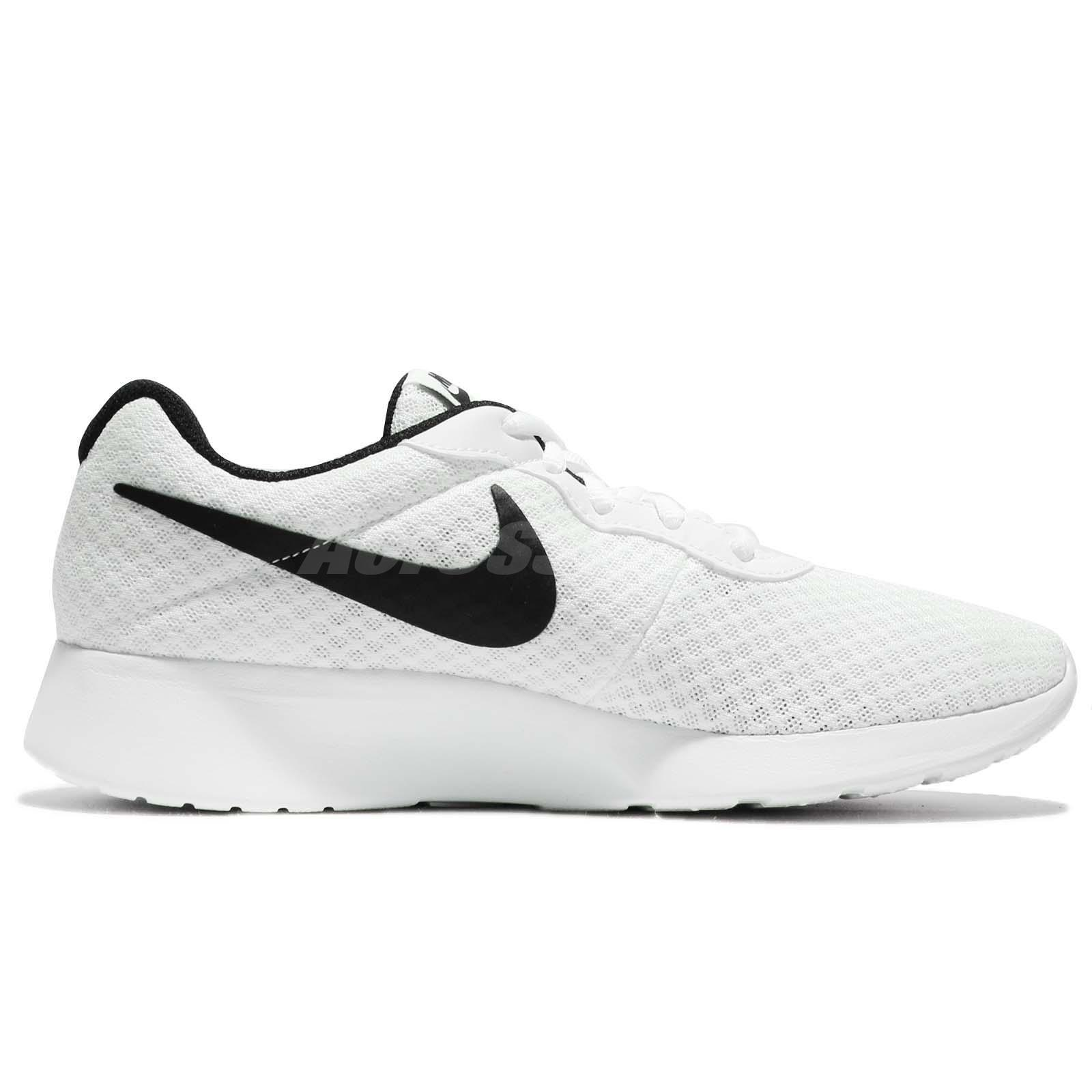 nike tanjun white with black