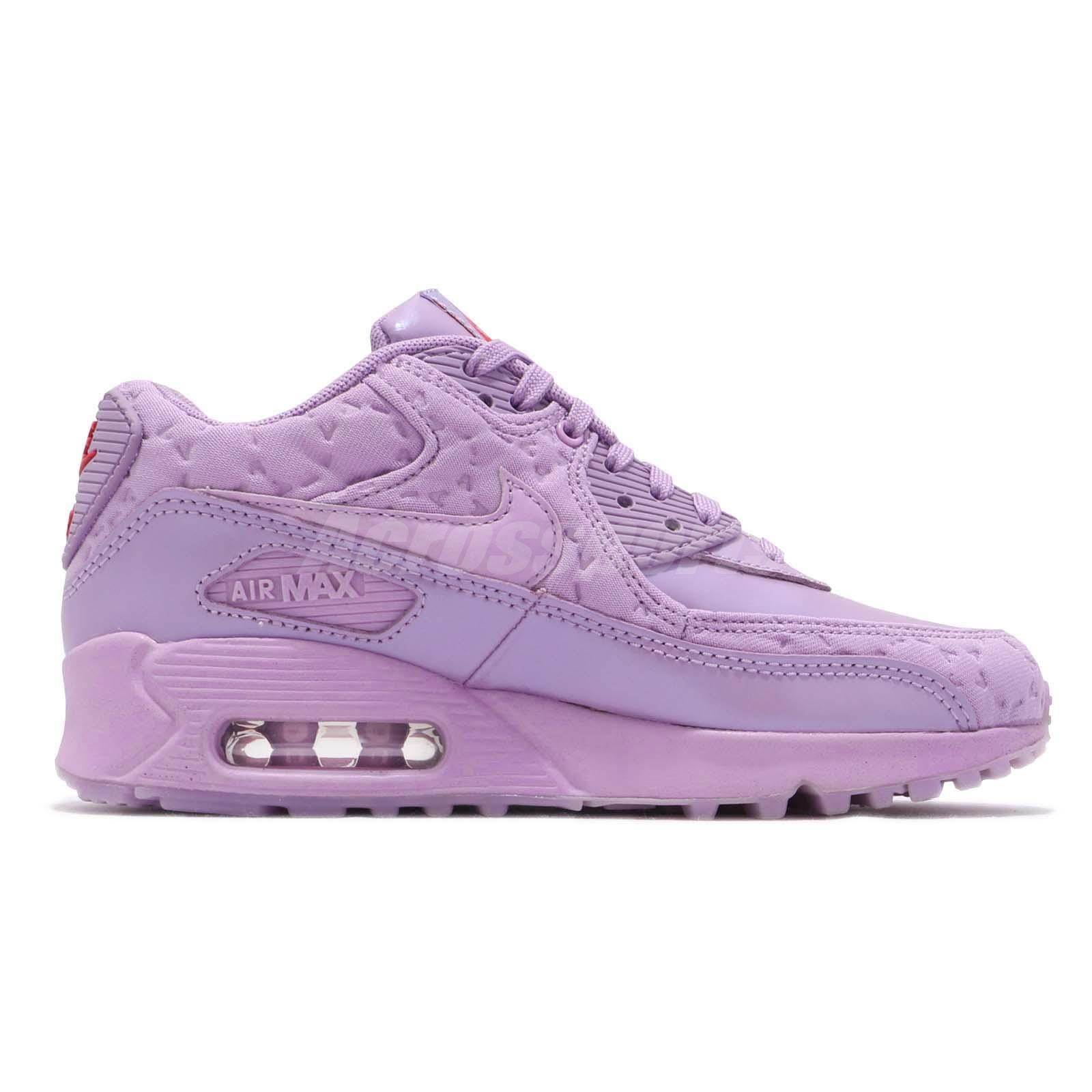 Nike Wmns Air Max 90 QS Paris Macaron Purple Women Running Shoes 813150500