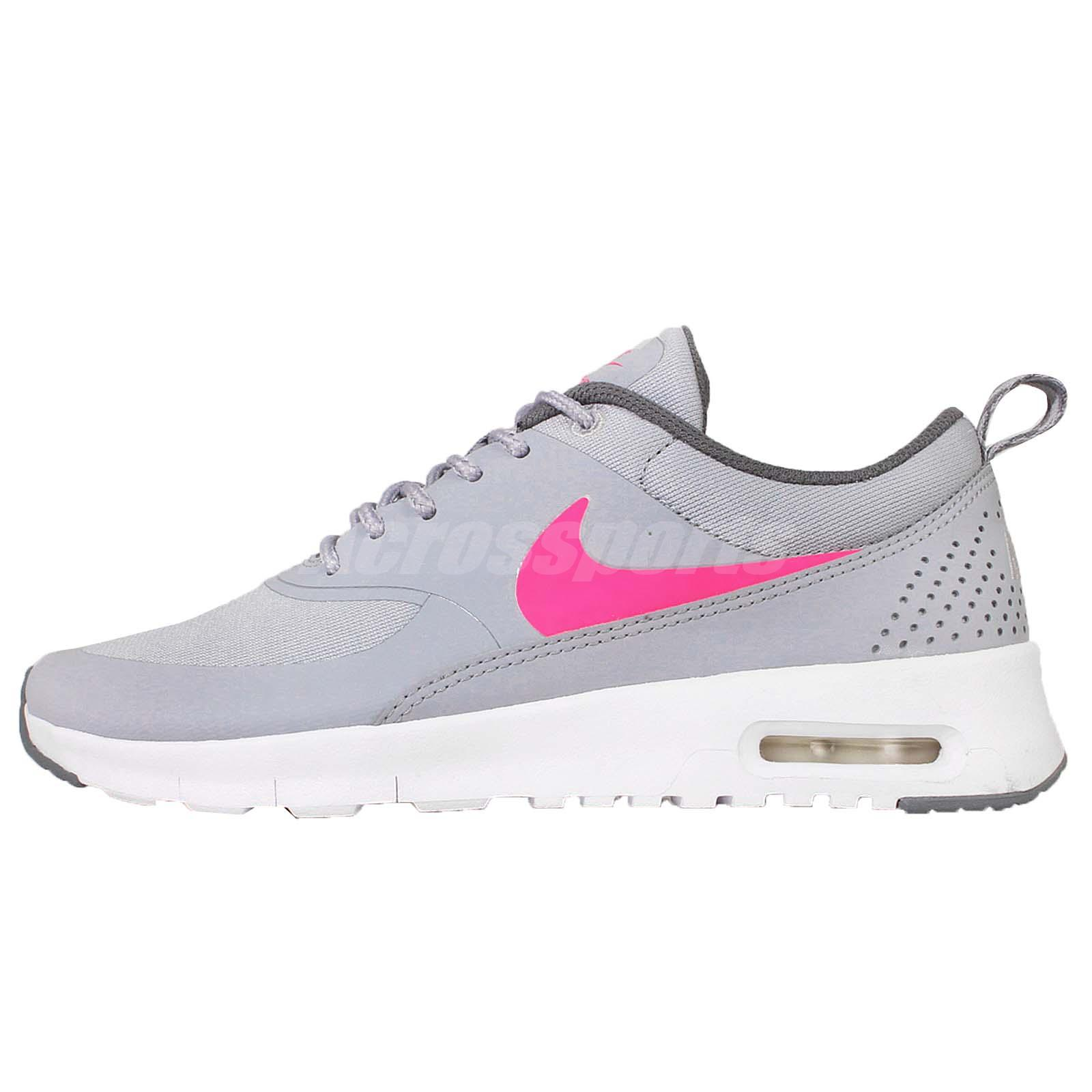 a409a79bb6 ... Nike Air Max Thea GS Grey Pink Kids Womens Running Shoes Sneakers  814444-002 ...