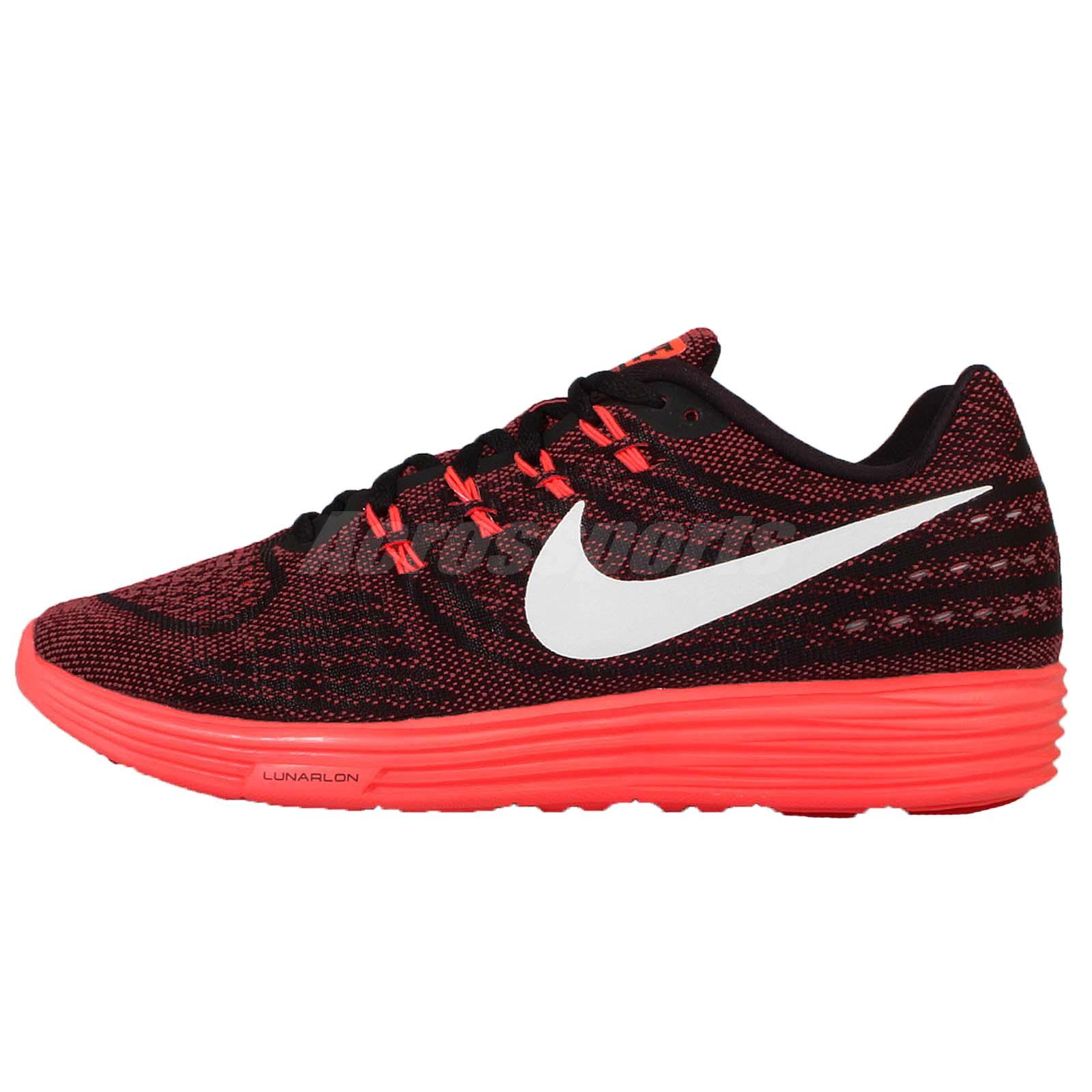 Nike Lunartempo 2 II Red Black Mens Running Shoes Sneakers ...