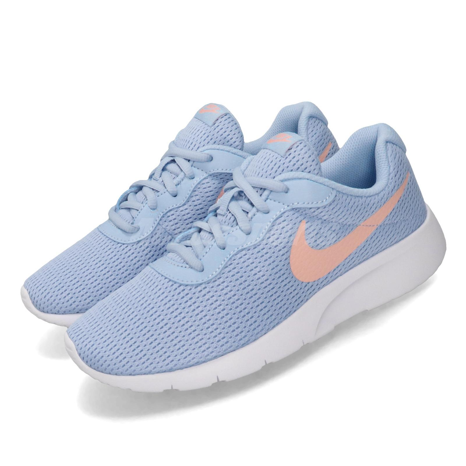 authorized site on sale various styles Details about Nike Tanjun GS Psychic Blue Bleached Coral Kid Women Running  Shoes 818384-406