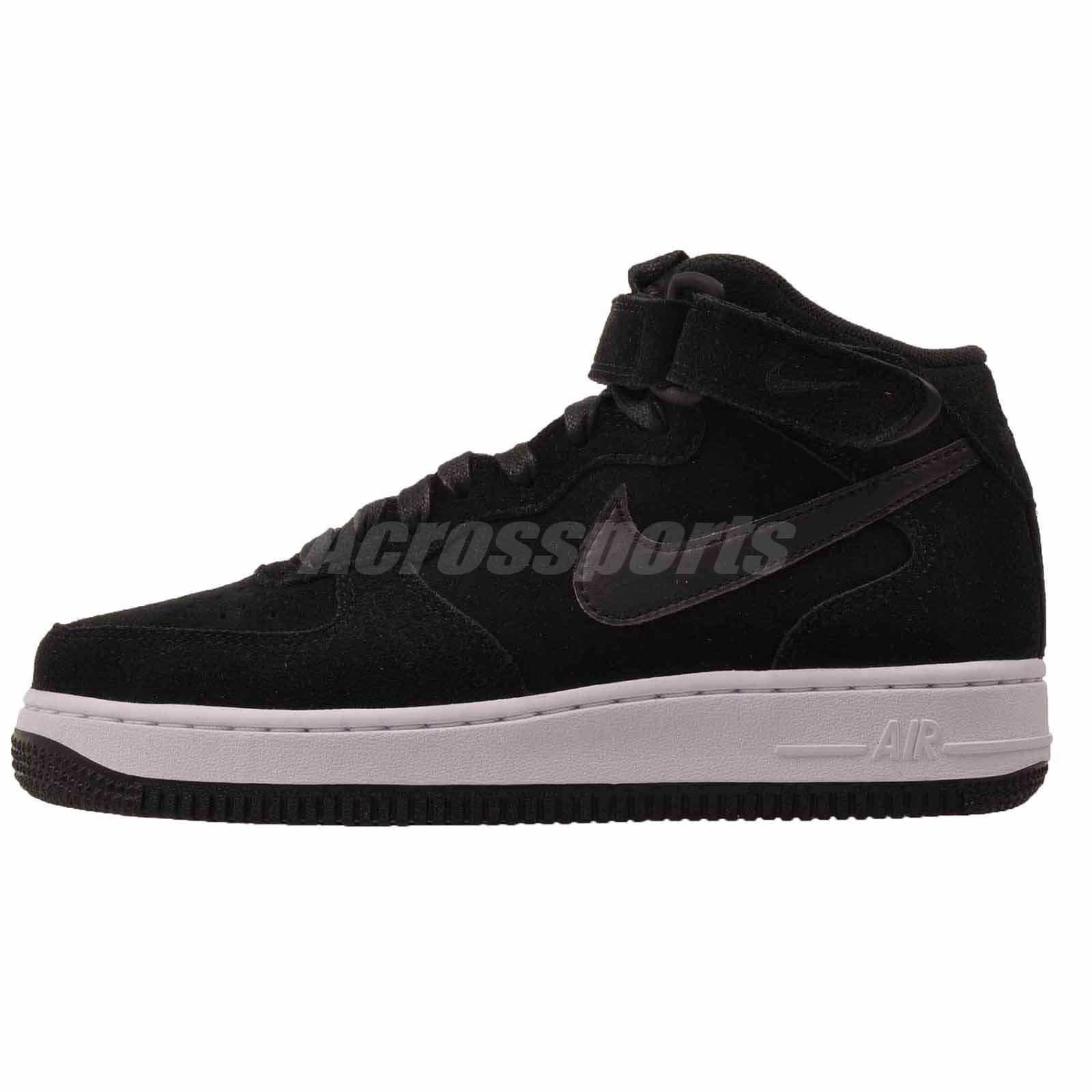 nike w air force 1 07 metà stagionale della donna nera nwob scarpe casual