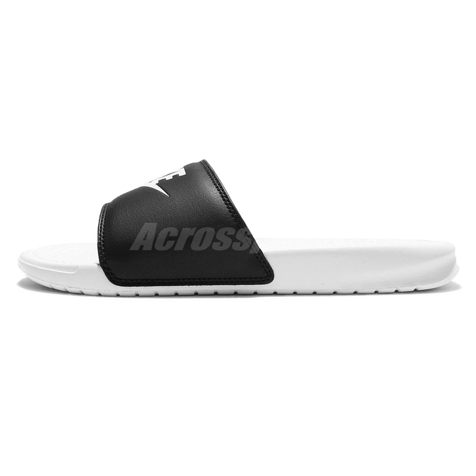 1da2aa881985 Nike Benassi JDI Mismatch Black White Men Women Sandal Slides 818736 ...